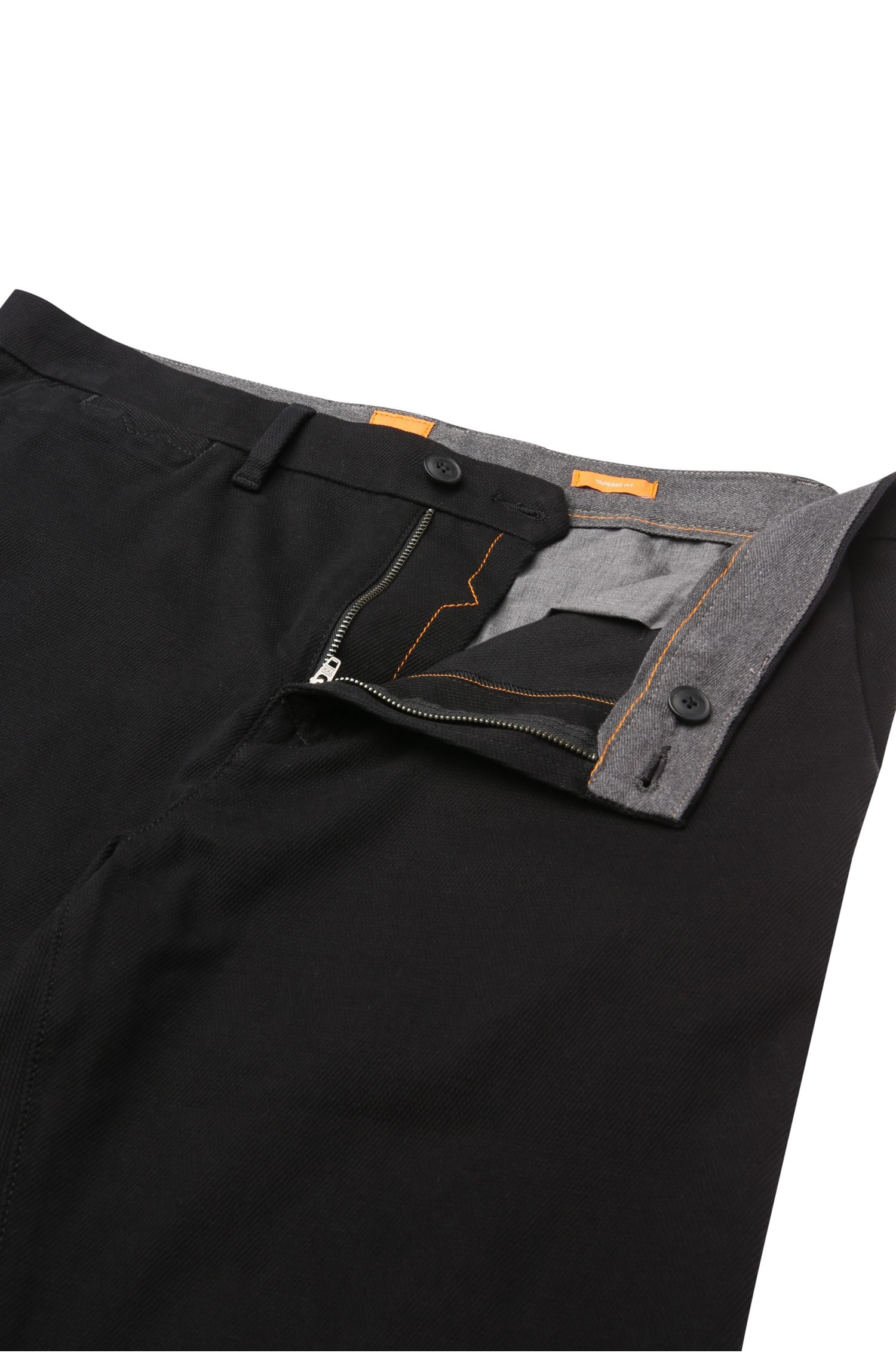 Tapered-fit chino van stretchkatoen: 'Siman1-W'