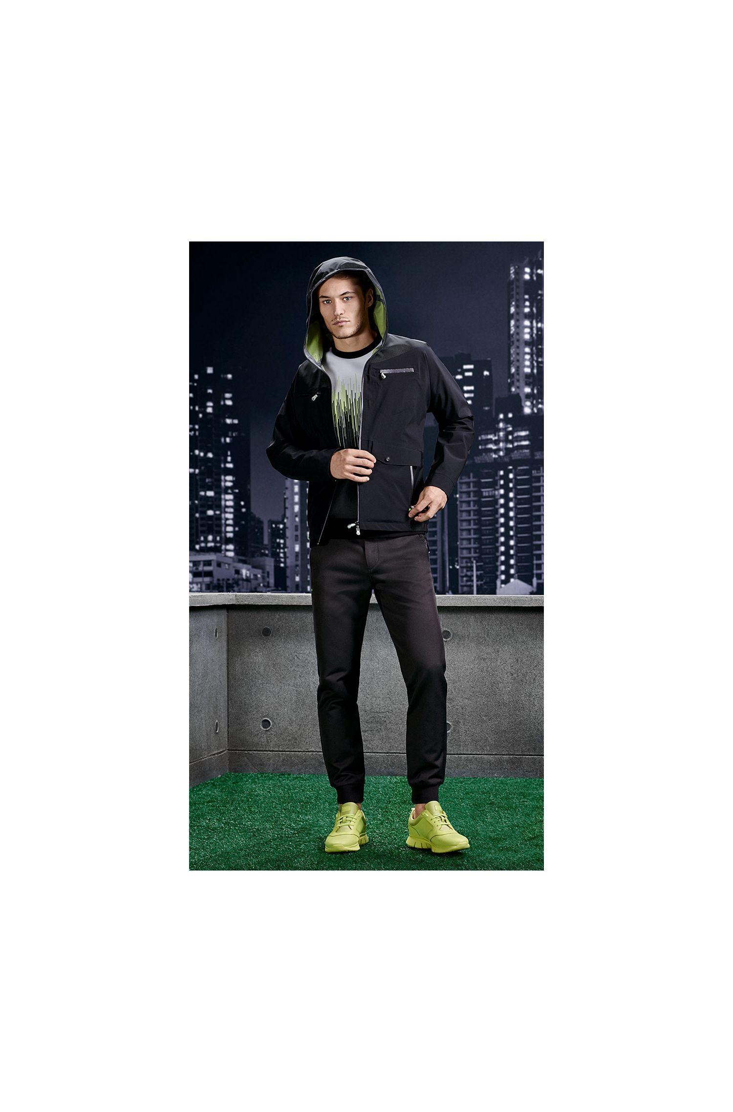 Regular-Fit Jacke aus Material-Mix: ´Jarleston`