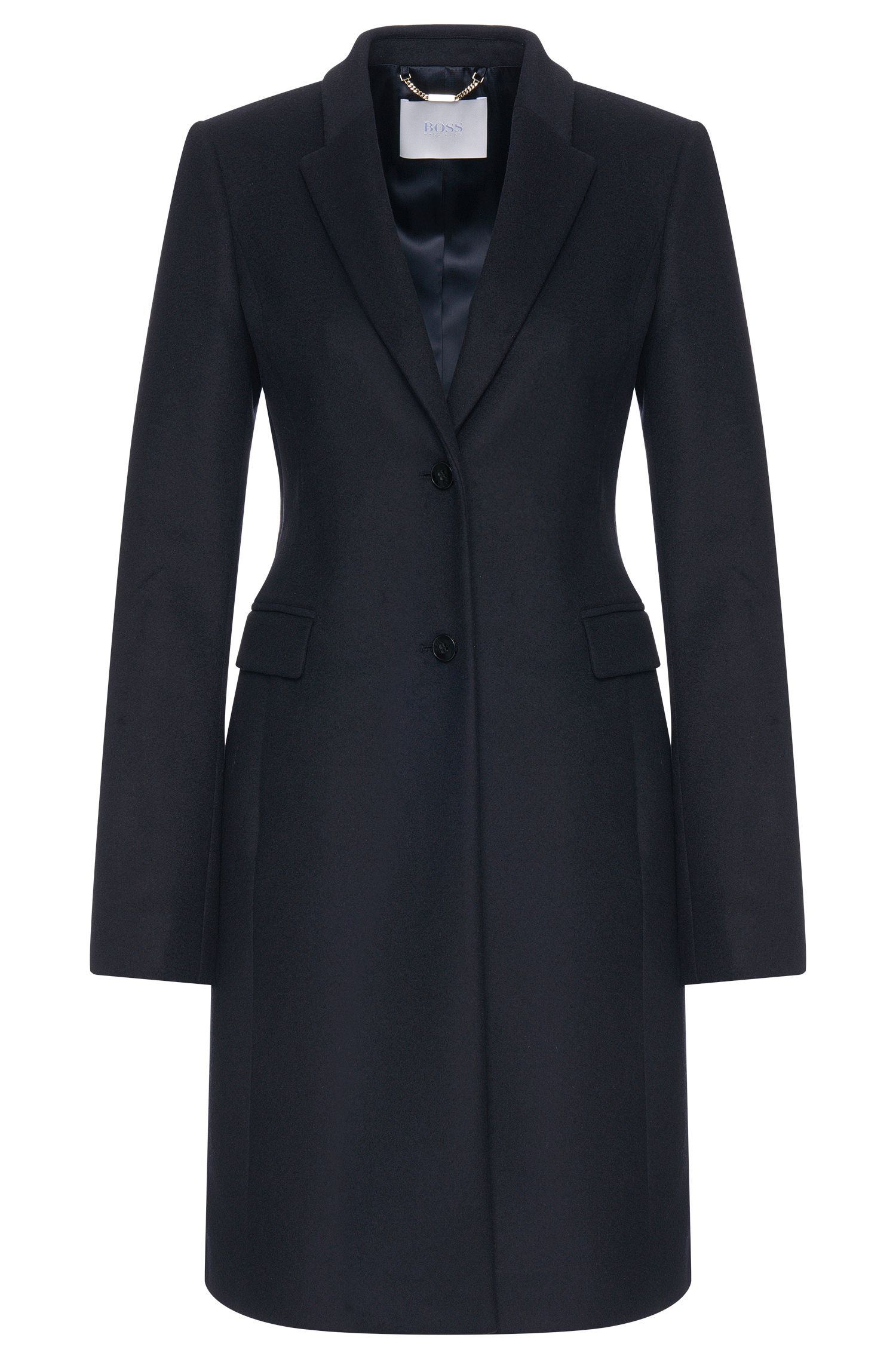 Coat in a new-wool blend with cashmere: 'Cavyla'