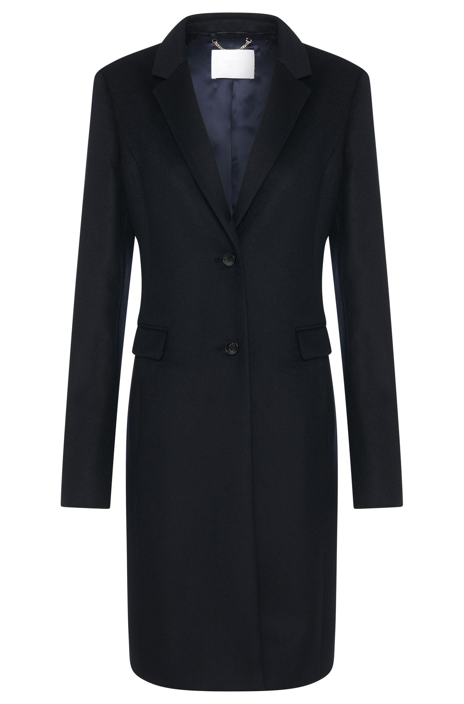 Coat in new-wool blend with cashmere: 'Cavymia'