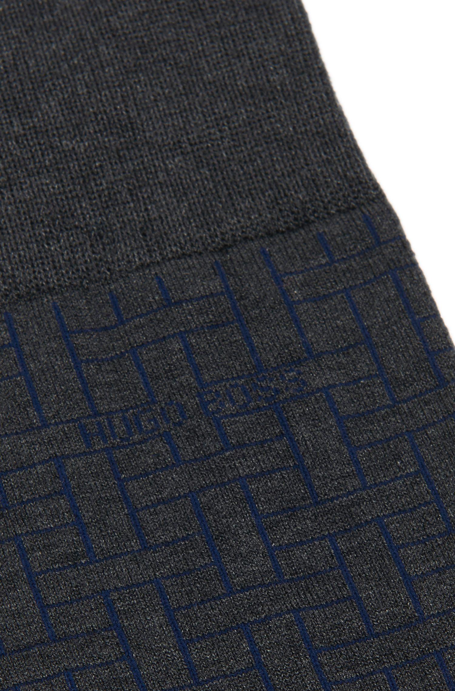 Chaussettes en coton mélangé à motif graphique: «RS Design US»