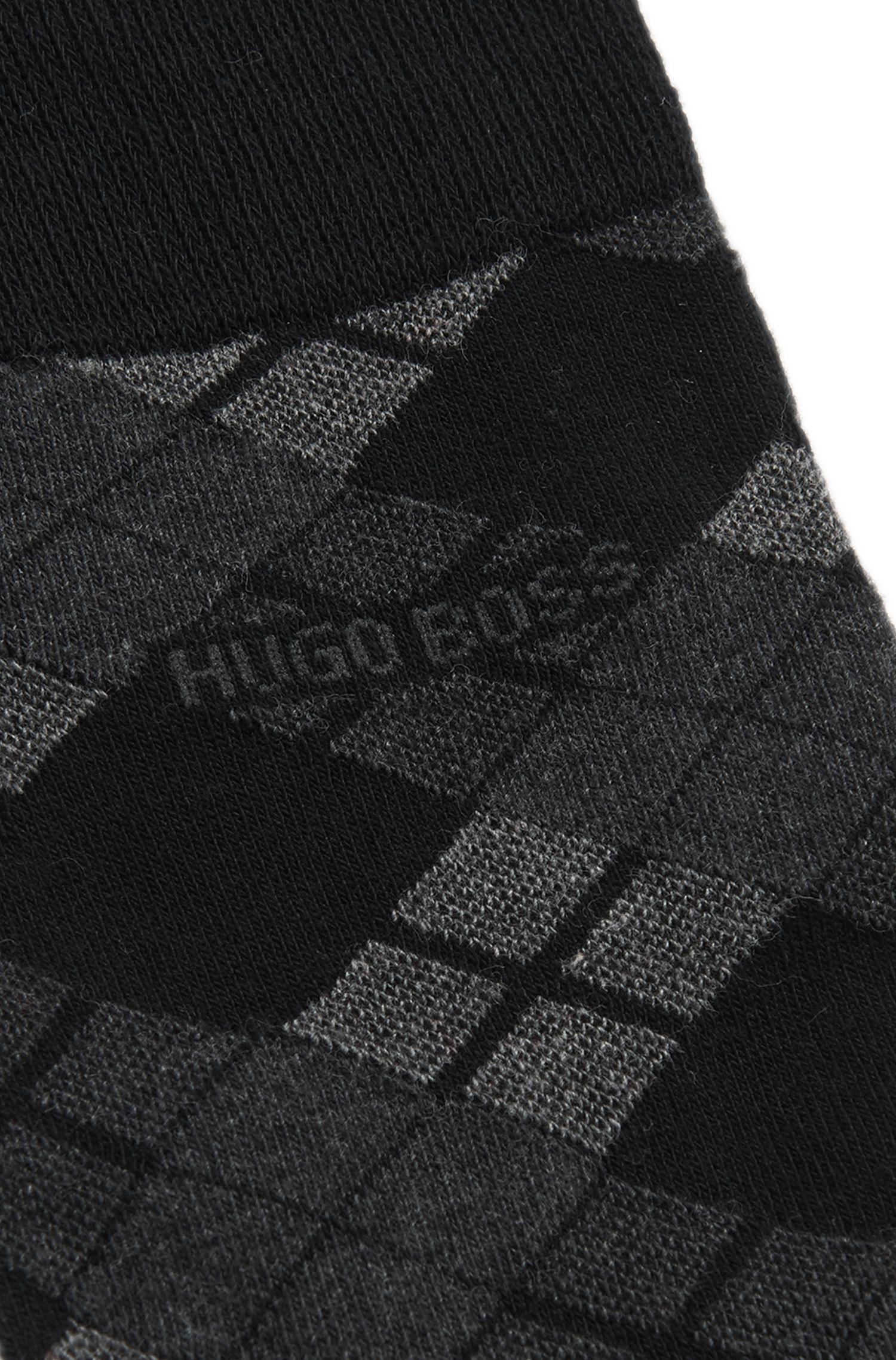 Chaussettes en coton mélangé à motif argyle: «RS Design US»