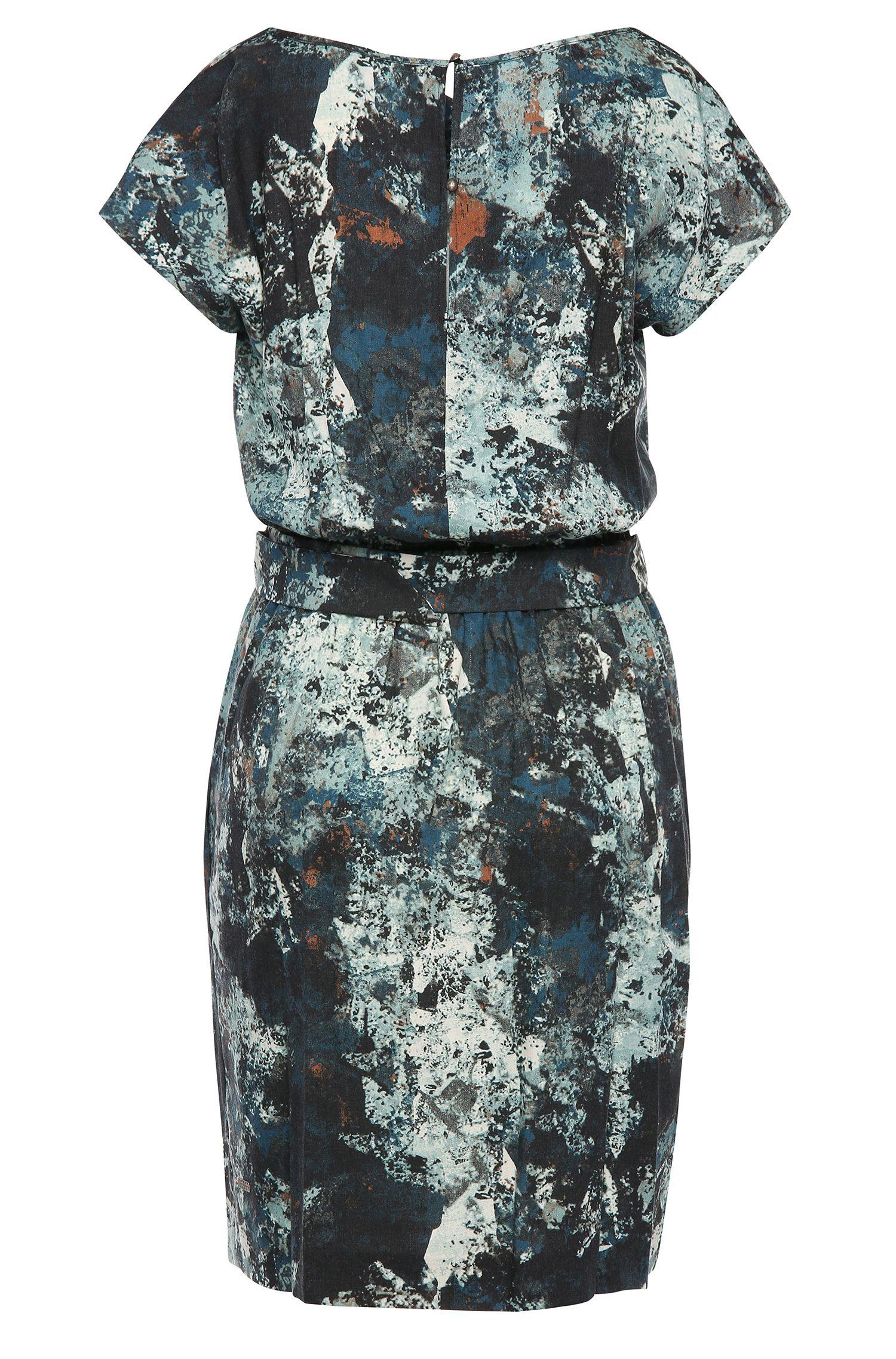 Gemustertes Kleid aus Material-Mix mit Wolle: ´Ablura1`