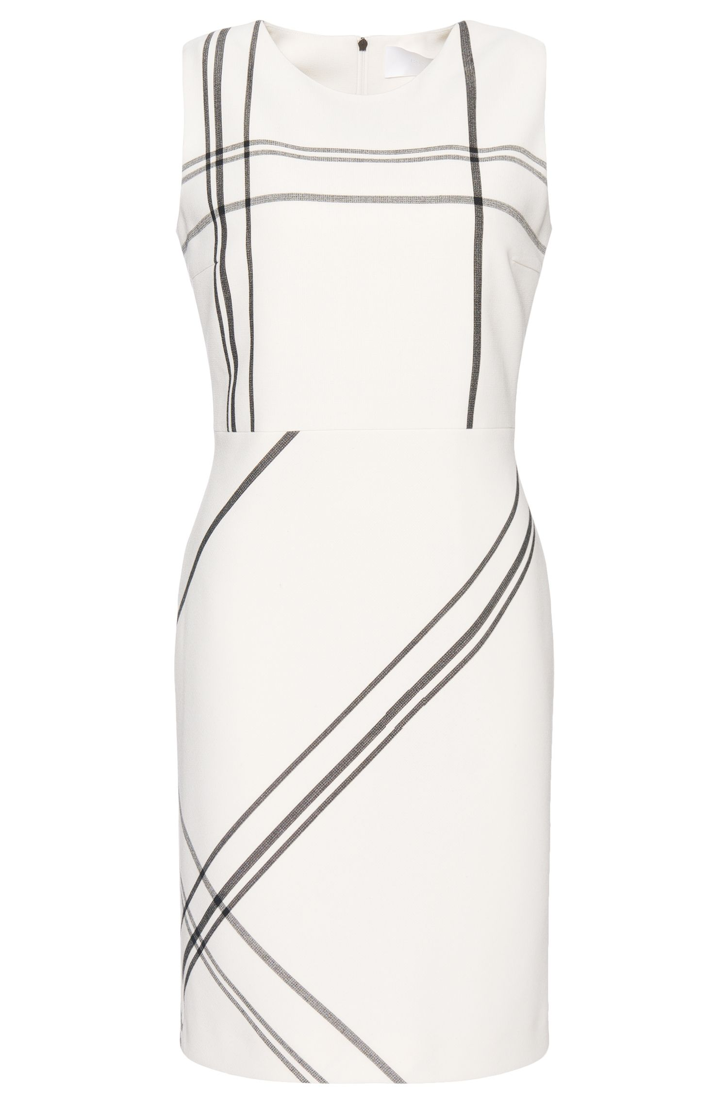 Etui-jurk in een grafisch streepdesign: 'Hiamma'