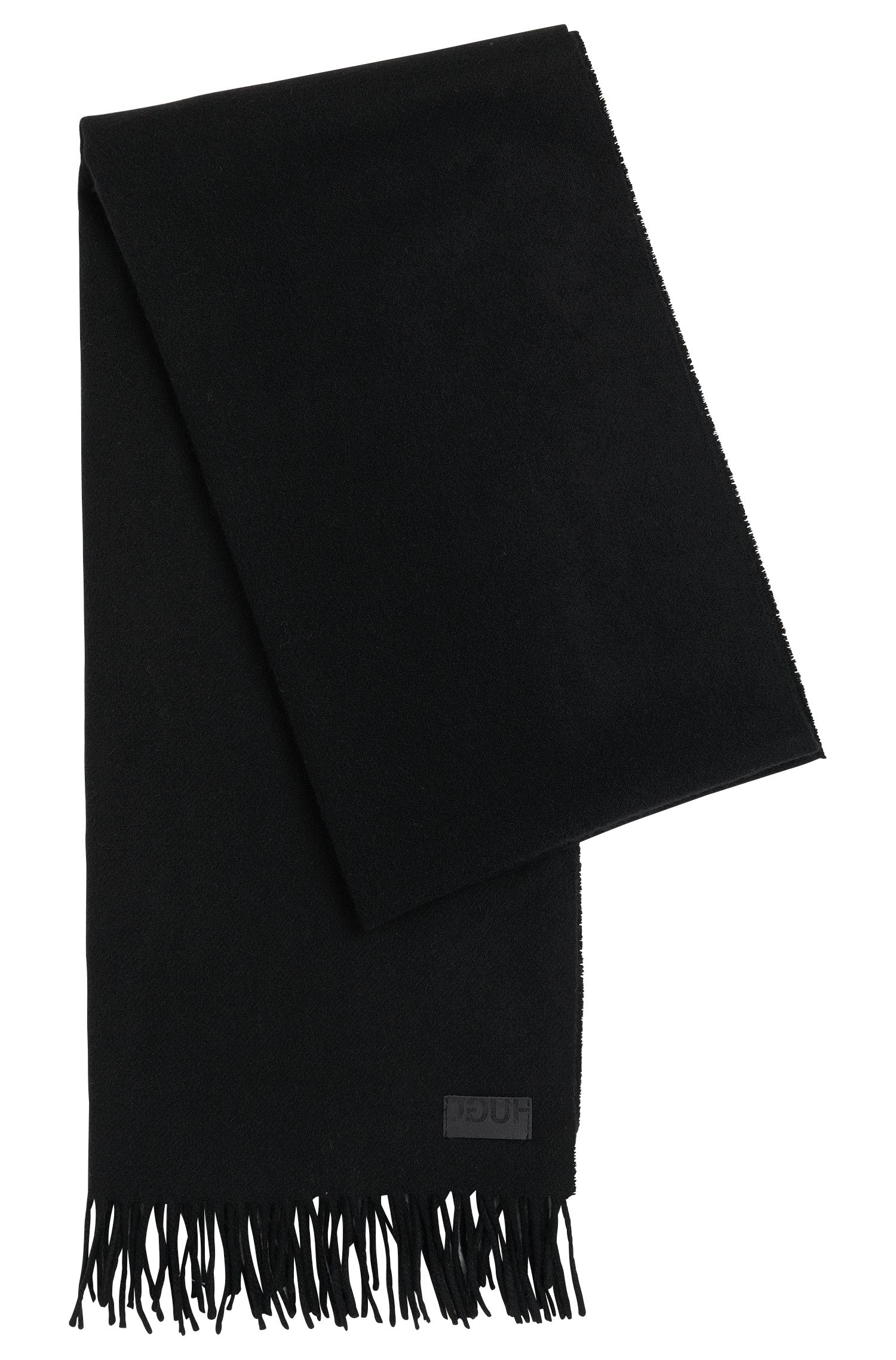 Plain scarf in a wool blend with cashmere: 'Men-Z 451'