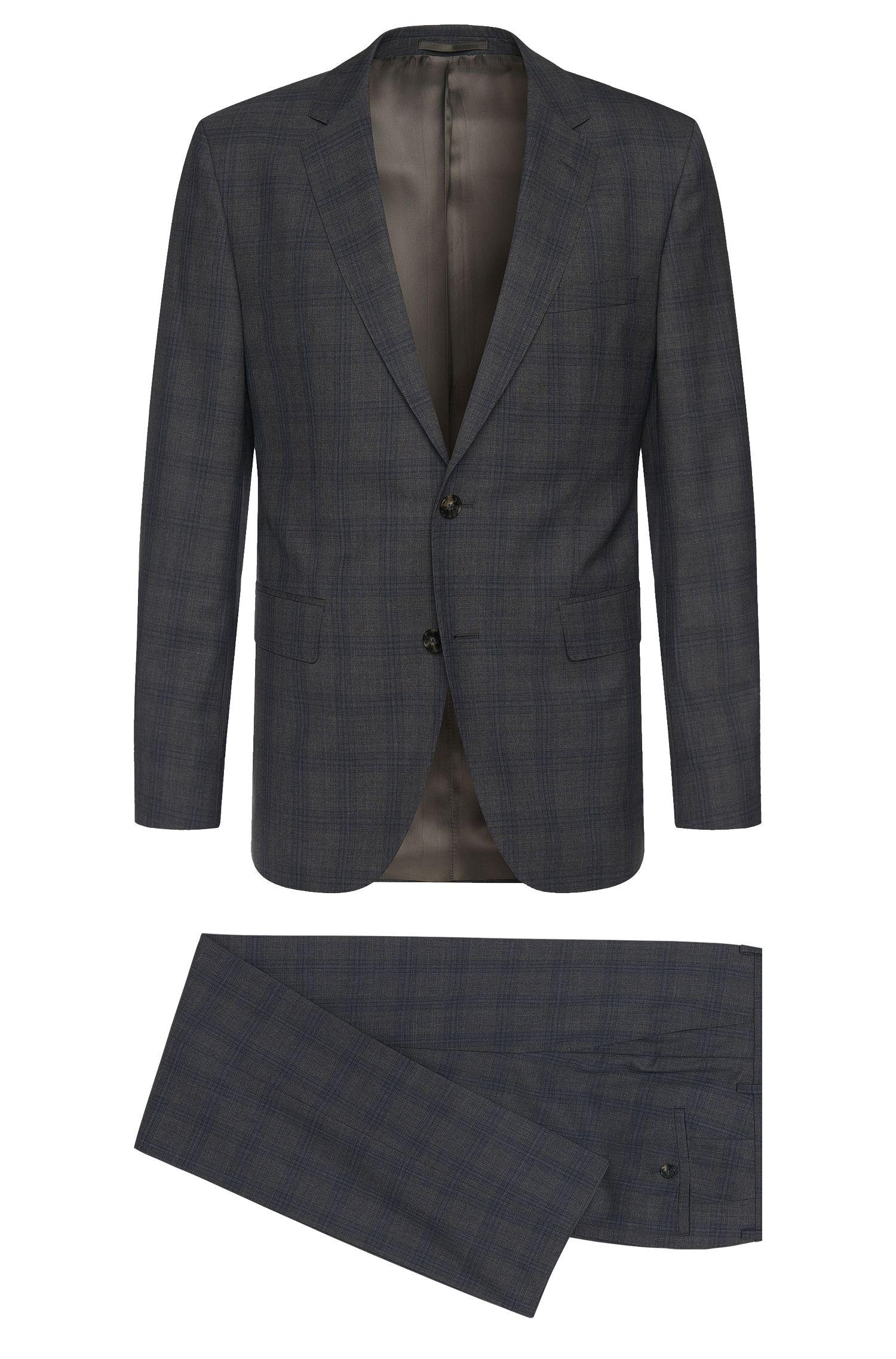 Regular-Fit Anzug aus Schurwolle mit Tartan-Muster: 'Johnstons1/Lenon'