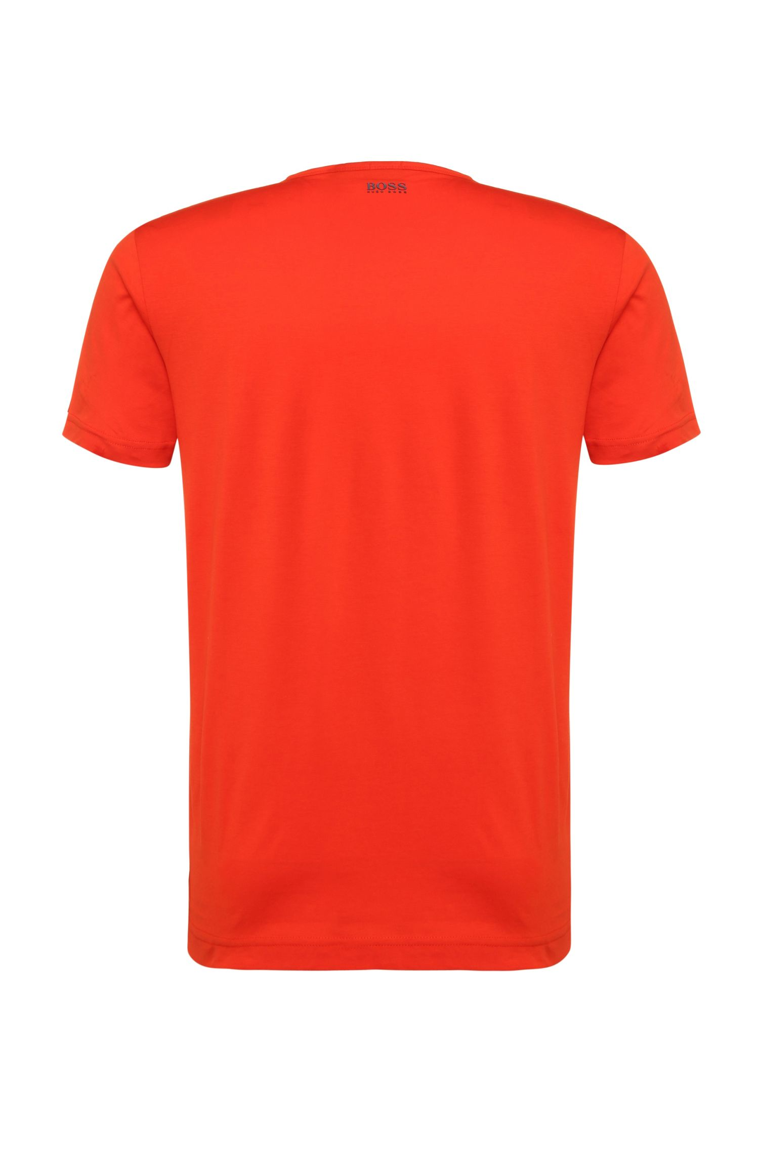 Regular-Fit Print-Shirt aus reiner Baumwolle: ´Tee 8`