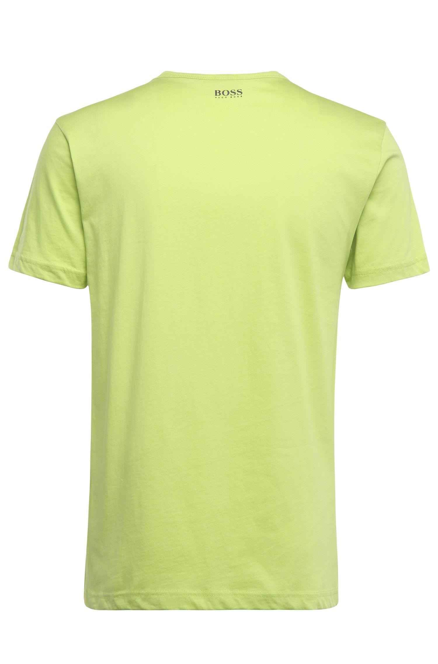 T-shirt van katoen met logoprint: 'Tee 6'