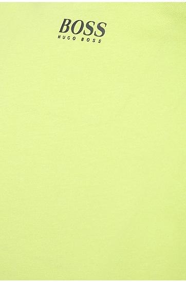 T-Shirt aus Baumwolle mit Label-Print: ´Tee 6`, Hellgrün