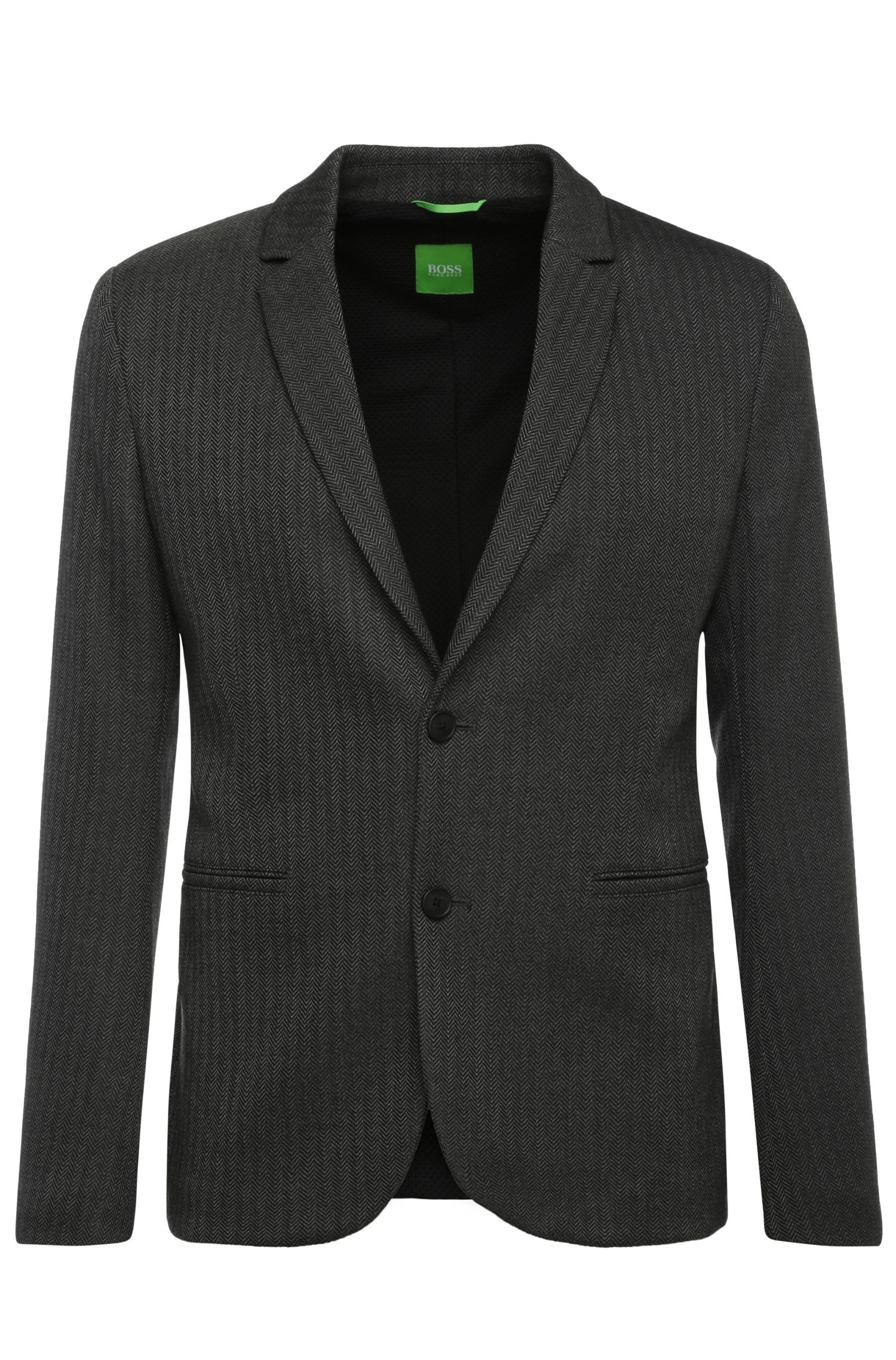 Regular-fit jacket in a fabric blend with viscose and elastane: 'Adoro 1'