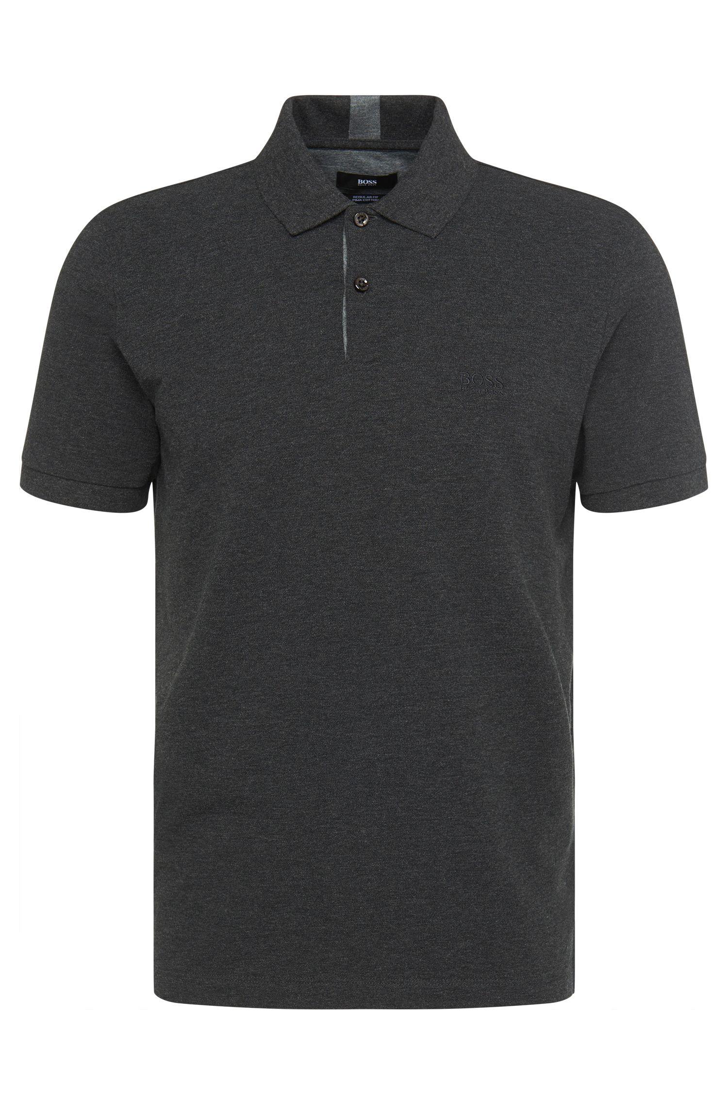 Unifarbenes Regular-Fit Polo aus Baumwolle: 'Parlay 04'