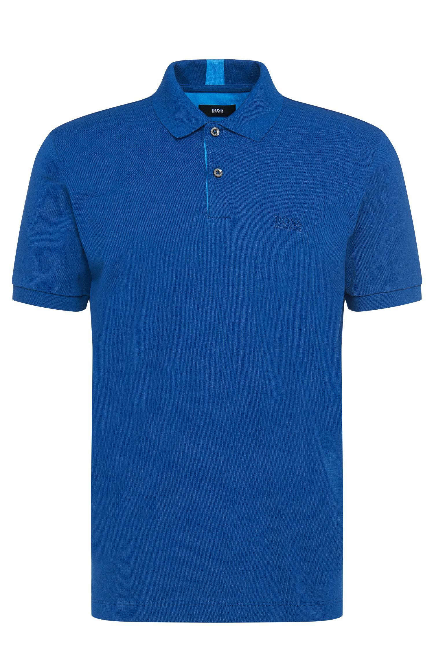 Plain regular-fit polo shirt in cotton: 'Parlay 04'