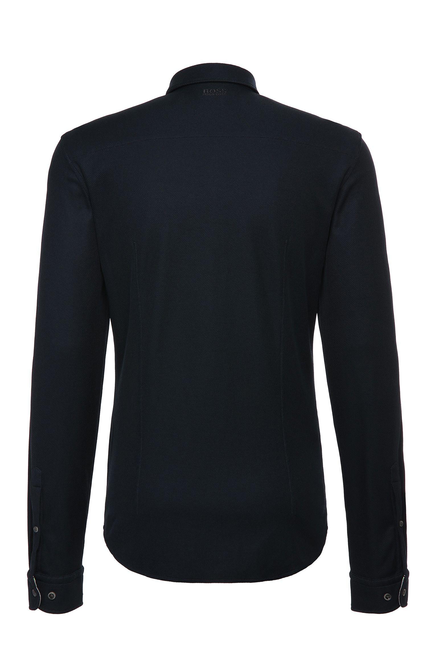 Slim-Fit Hemd aus texturiertem Baumwoll-Mix: ´Borallo`