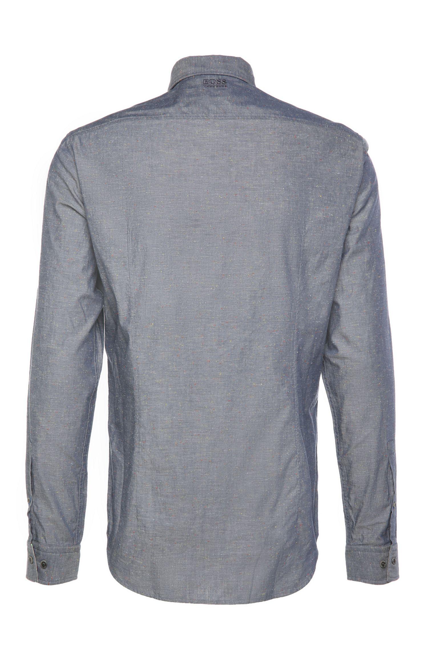 Slim-Fit Hemd aus strukturierter Baumwolle: ´Bemma`