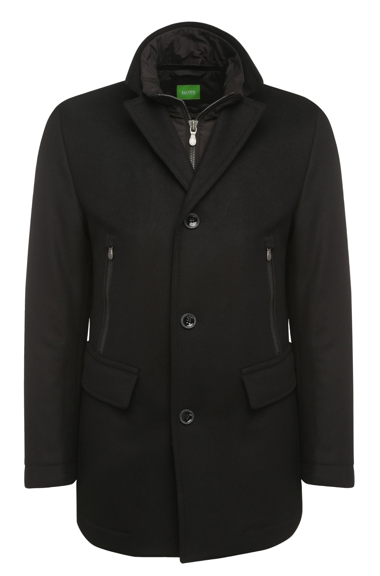 Sporty short coat in new wool with cashmere: 'C-Coant 2'