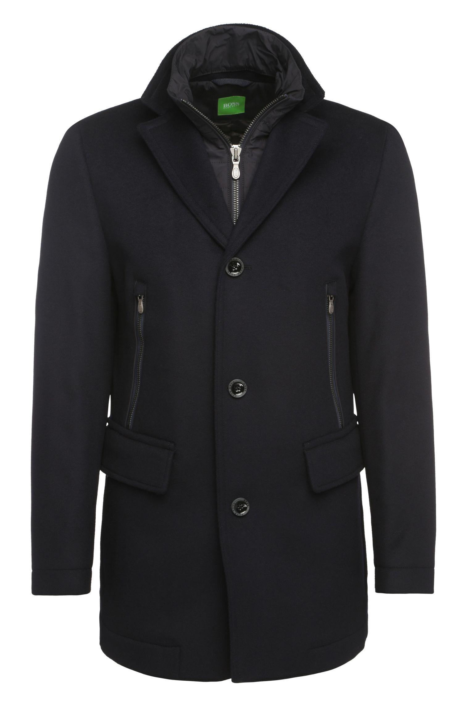 Manteau court sportif en laine vierge à teneur en cachemire: «C-Coant 2»