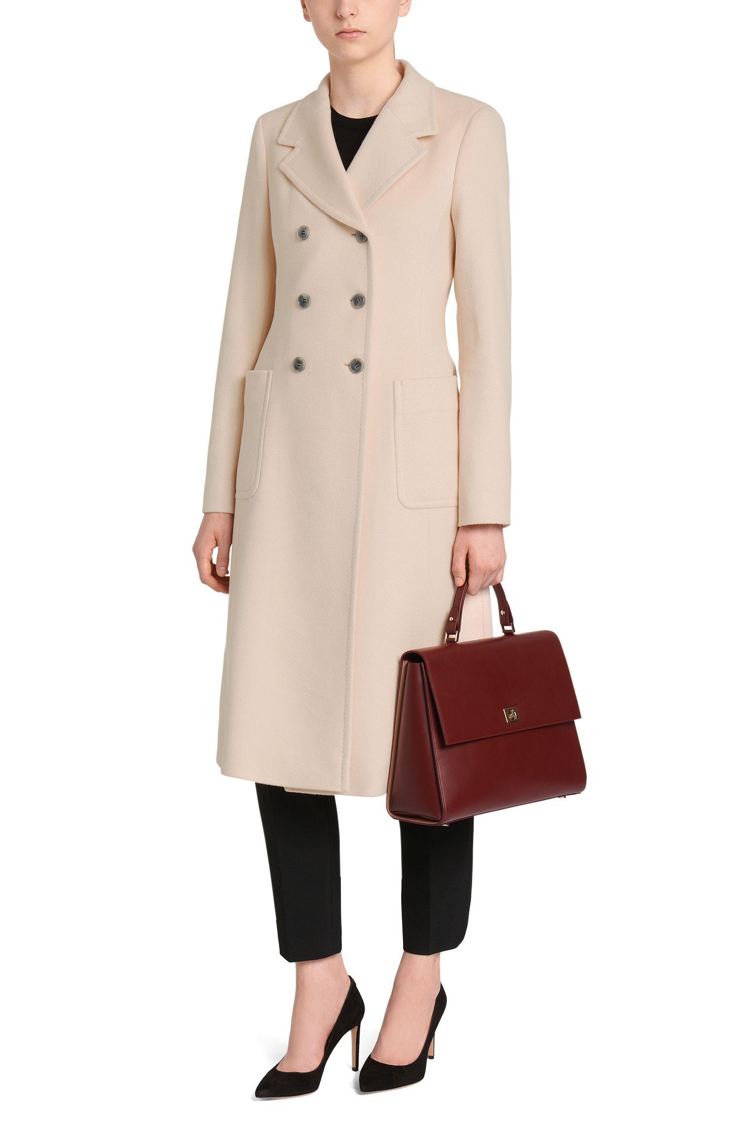 Manteau en pure laine vierge à patte de boutonnage croisée: «Cairon»
