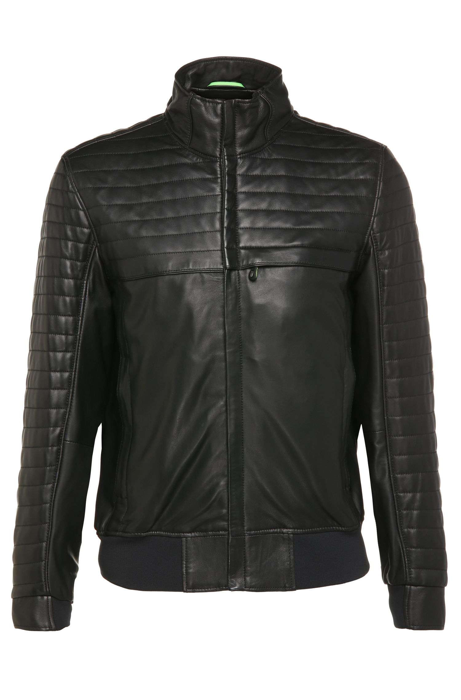 Blouson de motard Regular Fit en cuir : « Jalon »