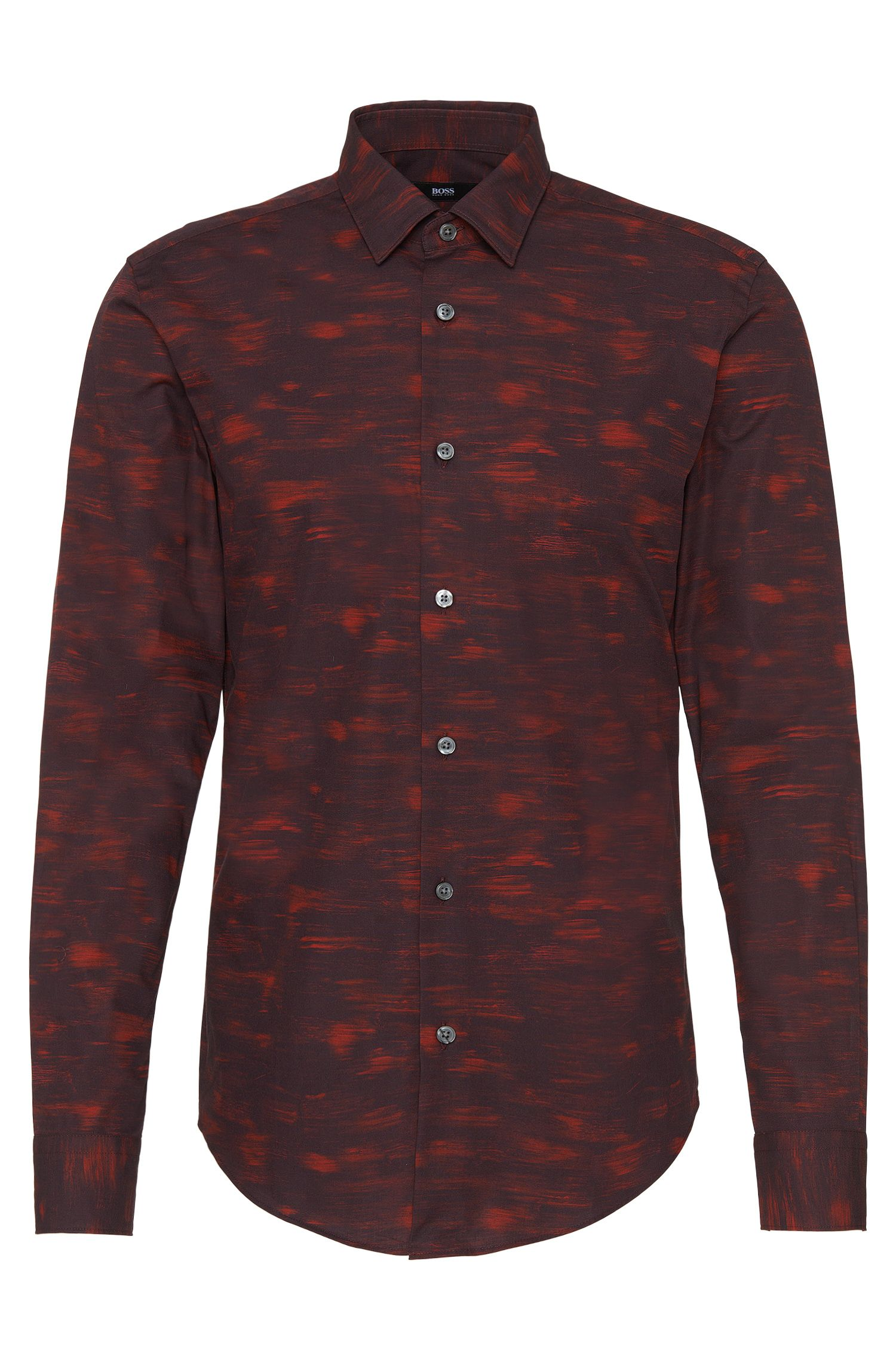 Gemustertes Slim-Fit Hemd aus Baumwolle: 'Ronni_F'