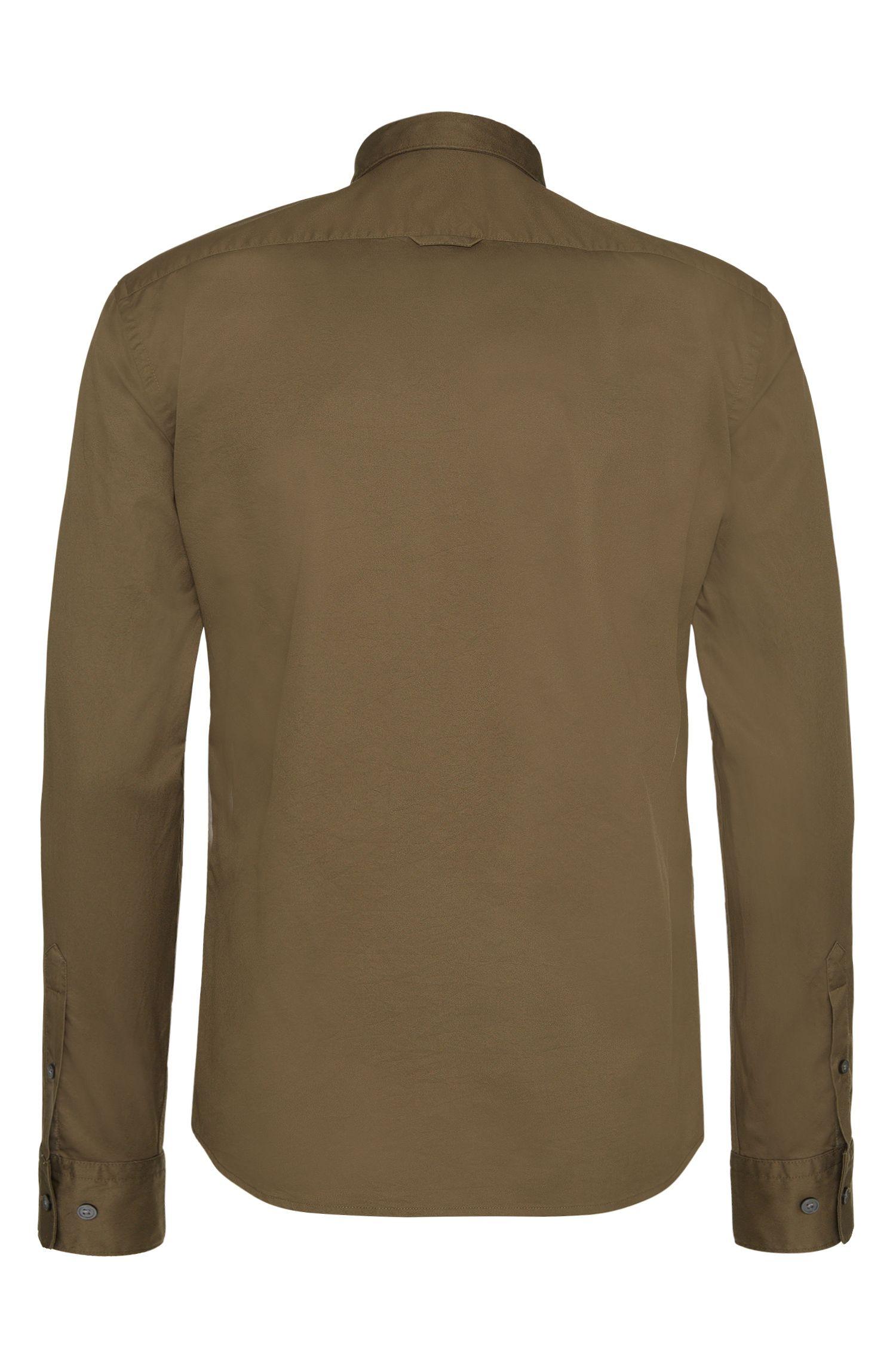 Slim-Fit-Hemd aus Baumwolle mit aufgesetzten Brusttaschen: 'Ramsey_35'