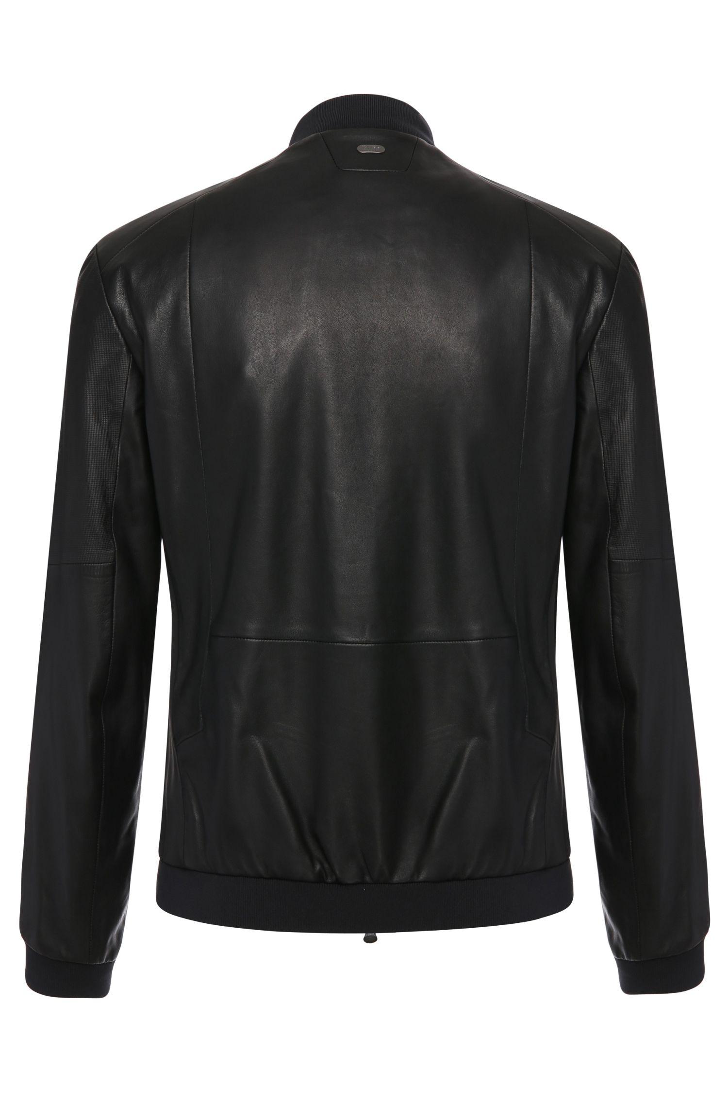 Blouson de motard Regular Fit en mélange de matières avec du cuir: «Jolmen»