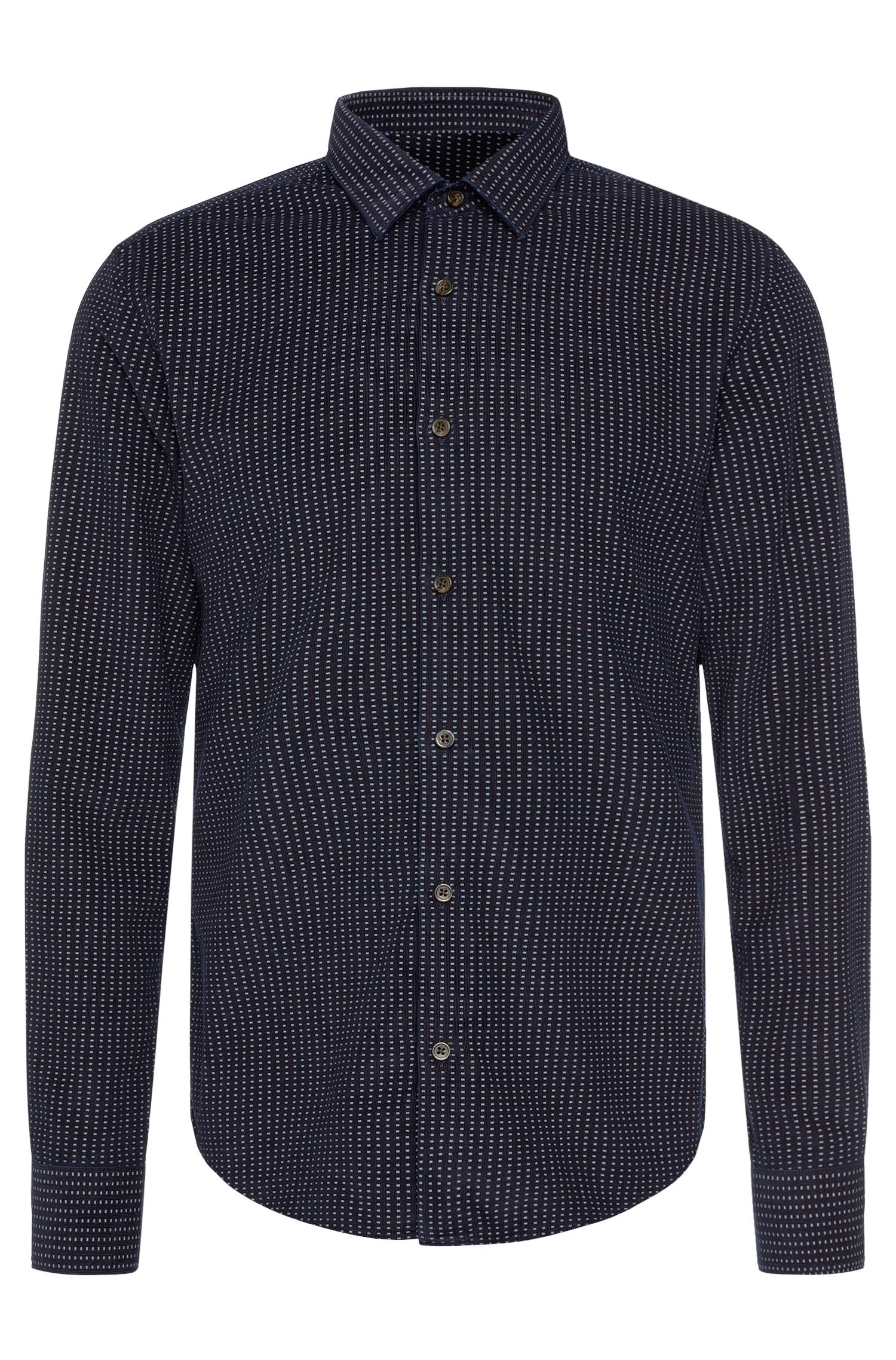 Patterned slim-fit shirt in cotton: 'Reid_F'