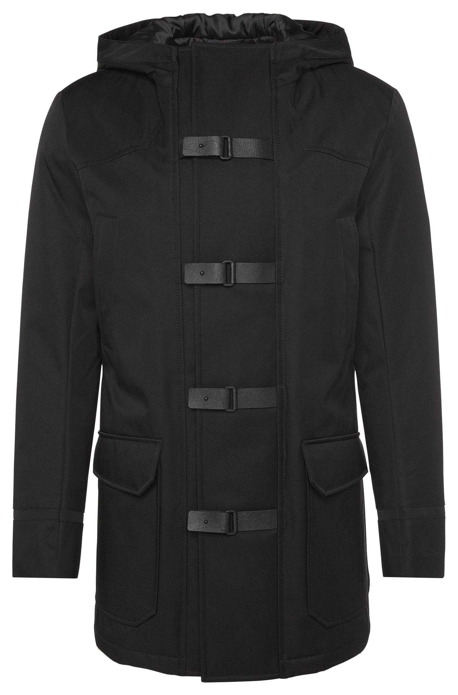 Lined duffel coat in water-repellent fabric: 'Mektor1'