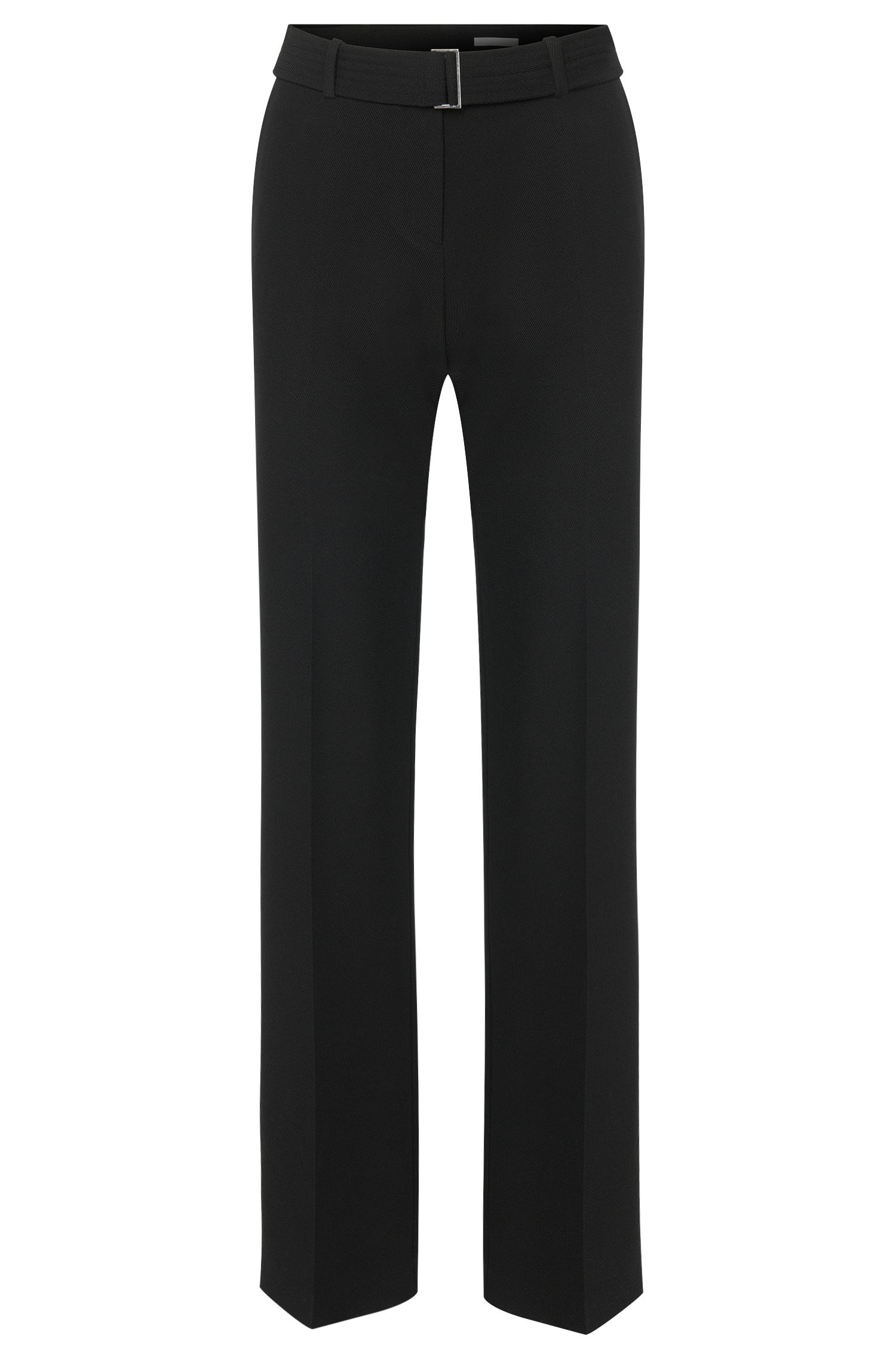 Relaxed-fit trousers with pressed creases and a belt: 'Aliama'