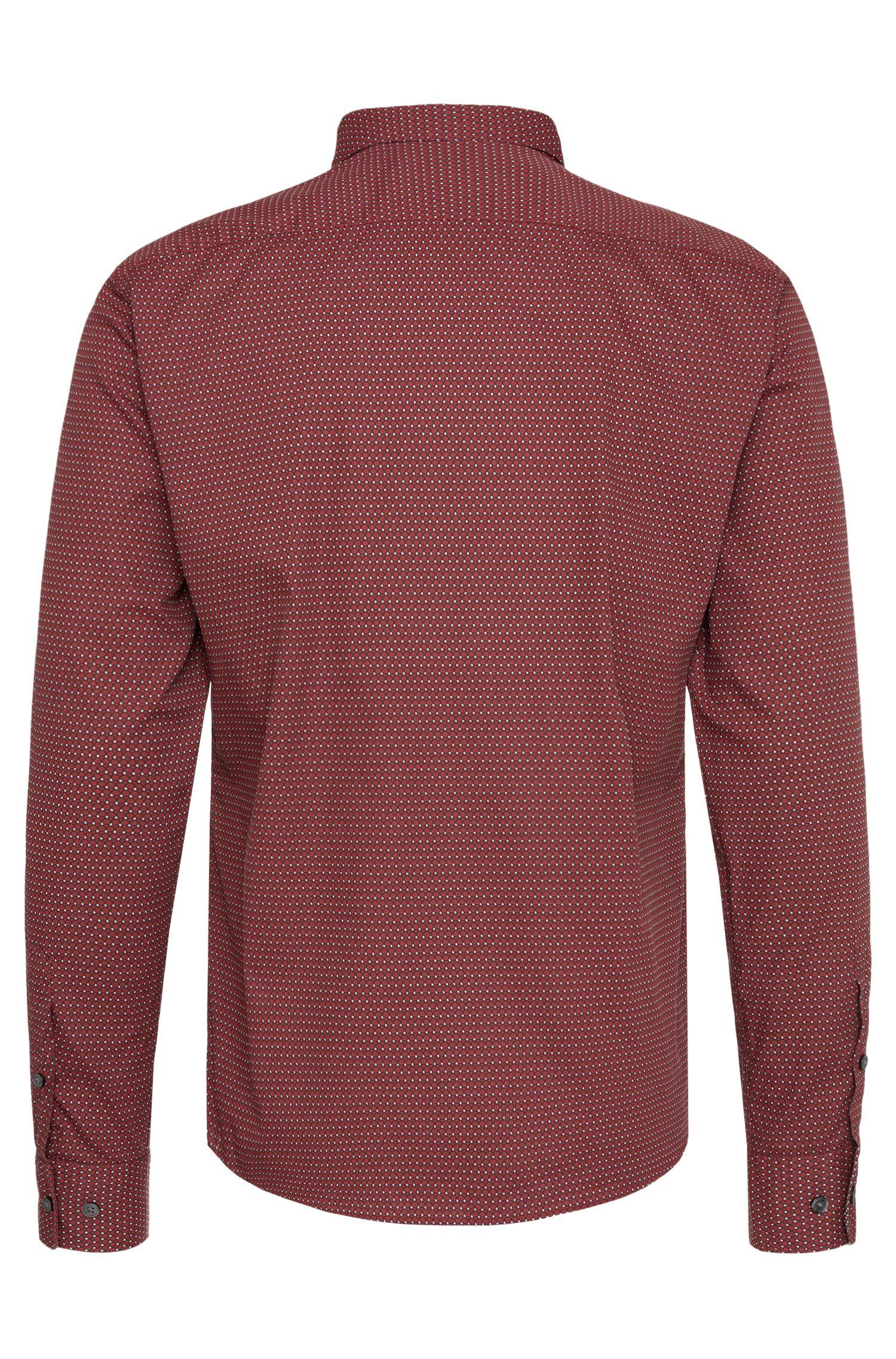 Allover gemustertes Slim-Fit Hemd aus Baumwolle: 'Reid_F'