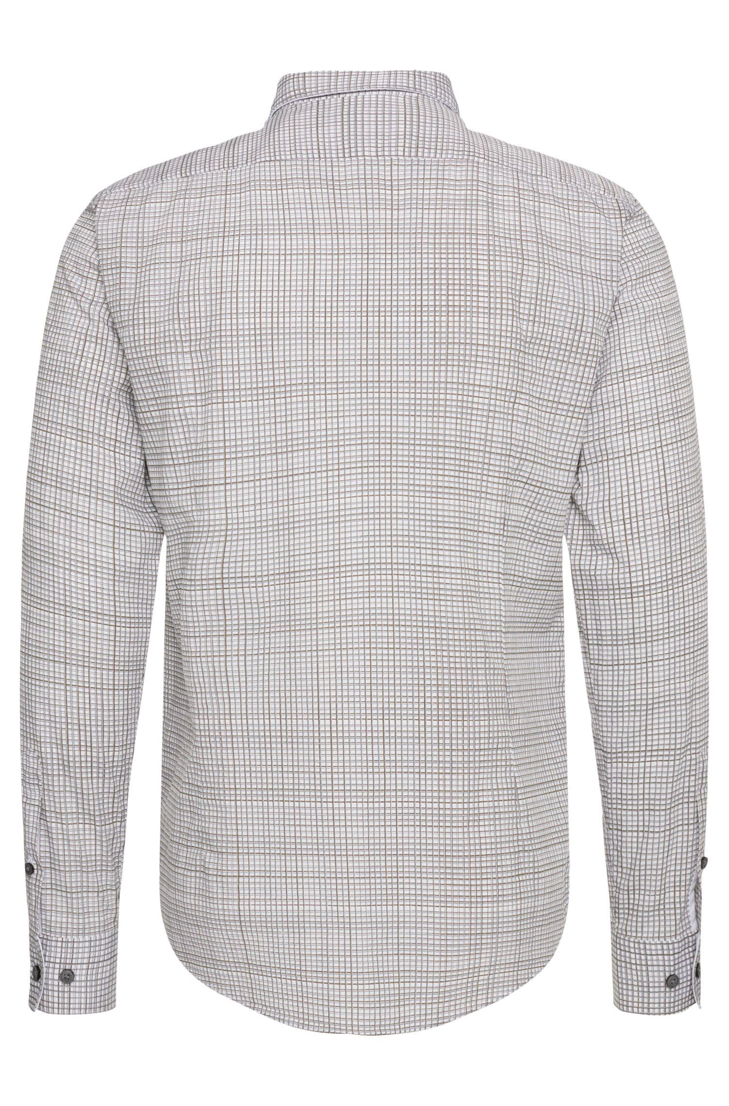 Slim-fit overhemd van katoen met dessin: 'Ronni_34F'