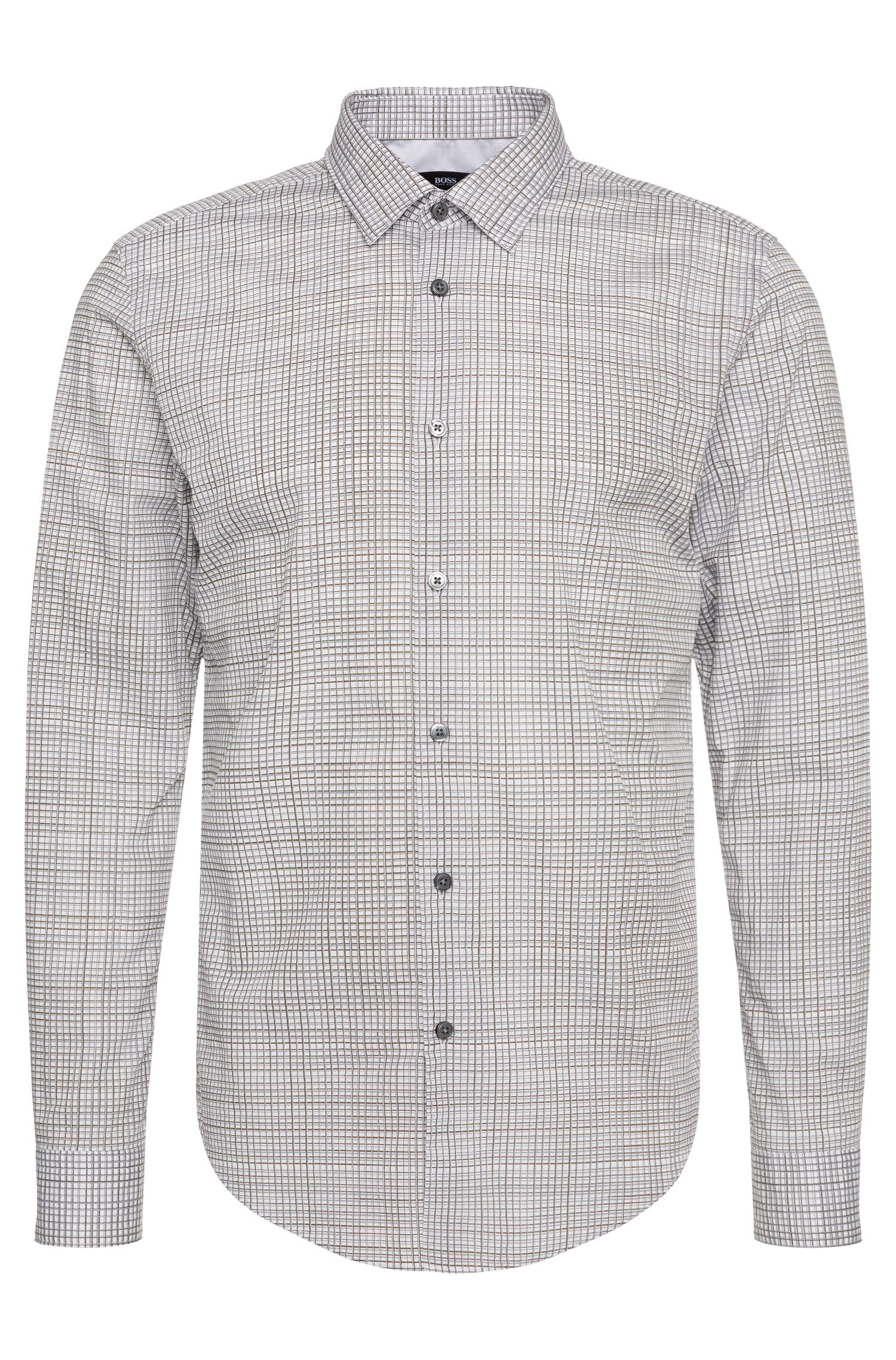 Patterned slim-fit shirt in cotton: 'Ronni_34F'