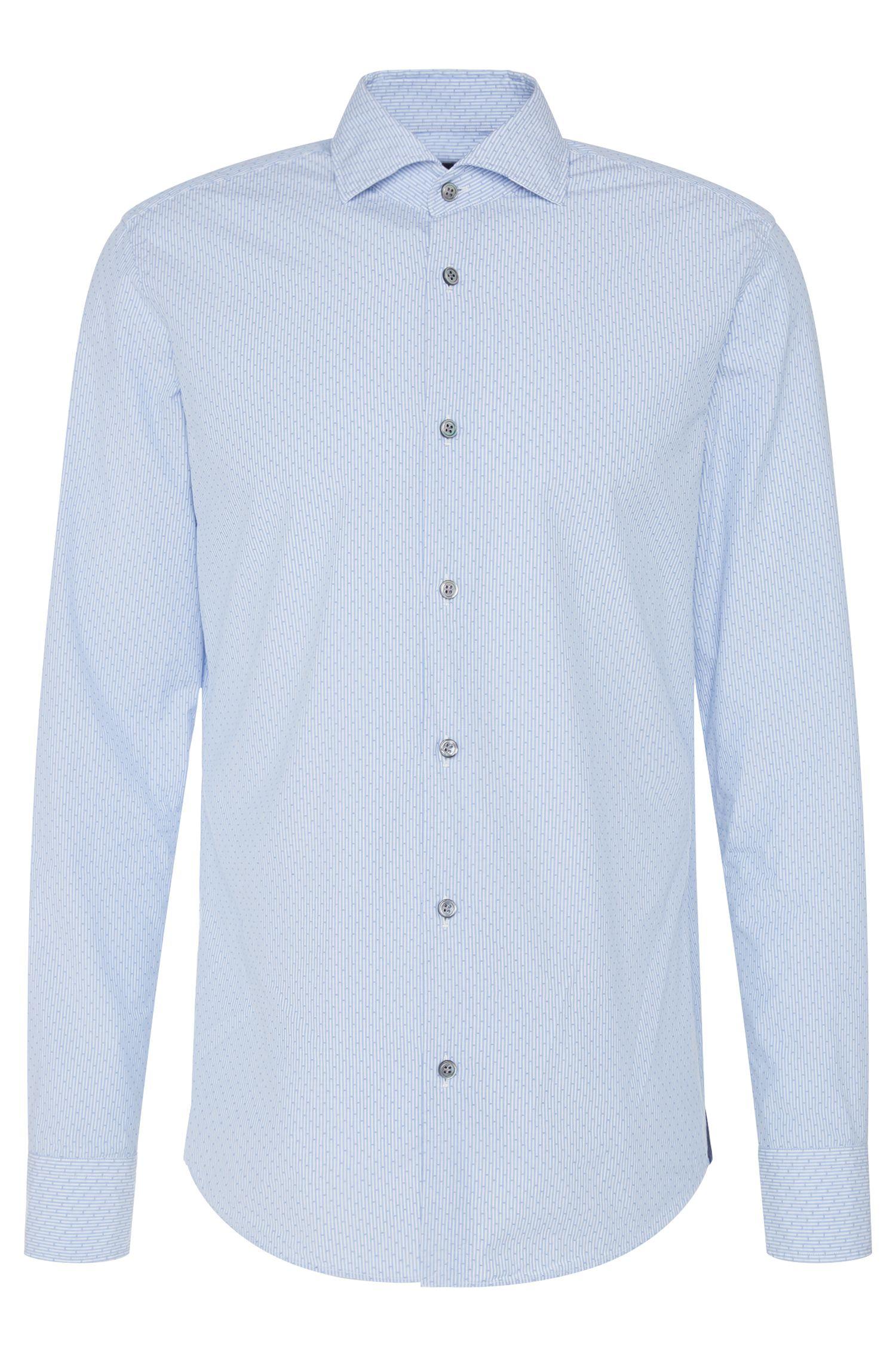 Gestreept slim-fit overhemd van zuiver katoen uit de Tailored-collectie: 'T-Randolph_37F'