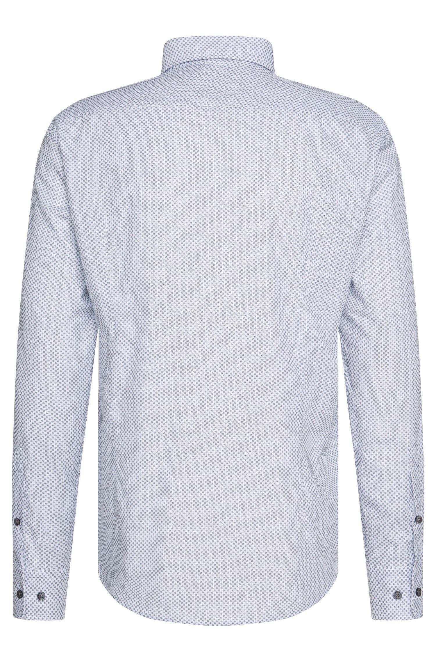 Slim-Fit Tailored Hemd aus Baumwolle im Punkte-Dessin: 'T-Randolph_38F'