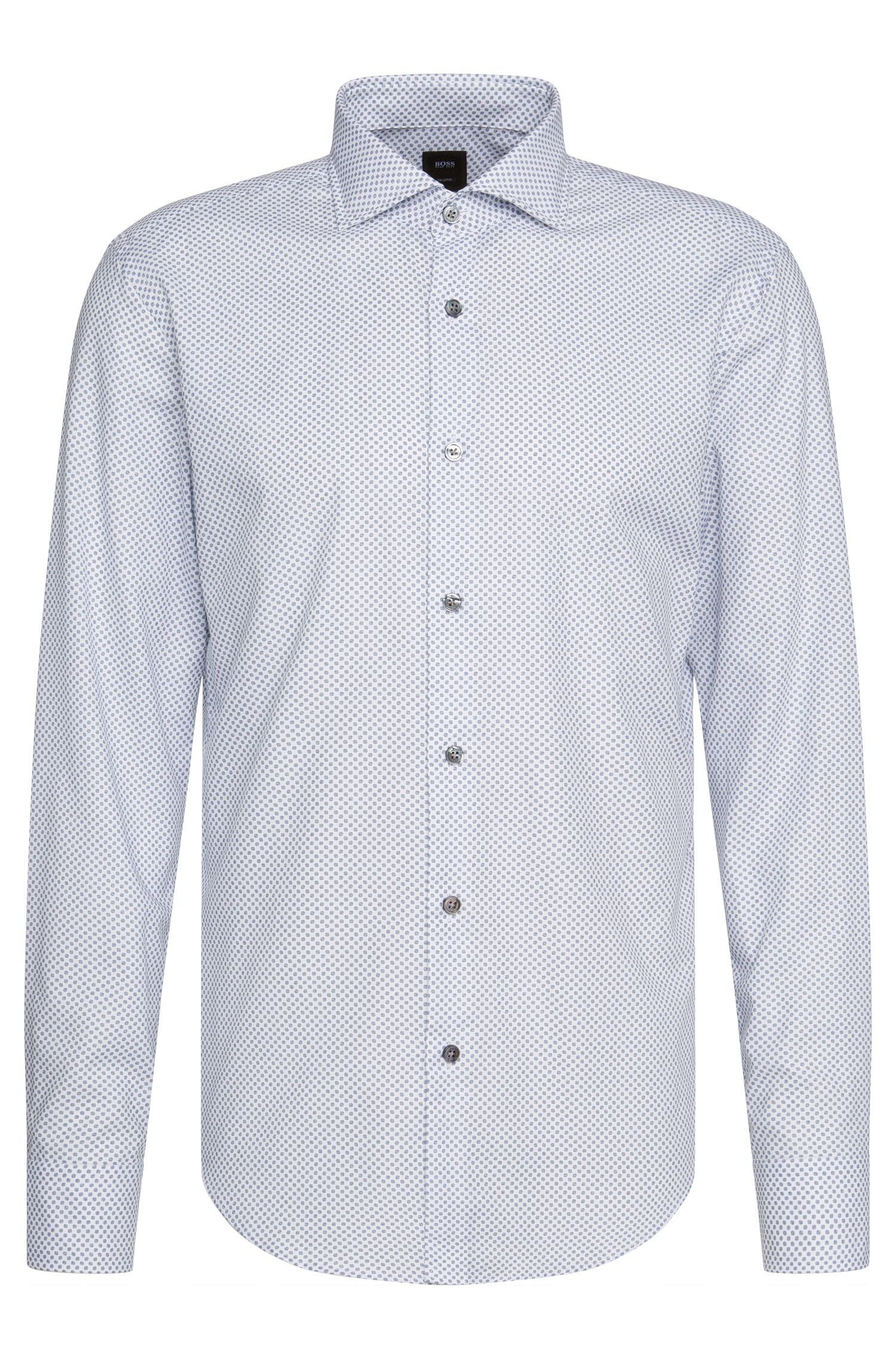 Slim-fit Tailored shirt in cotton in a polka dot pattern: 'T-Randolph_38F'