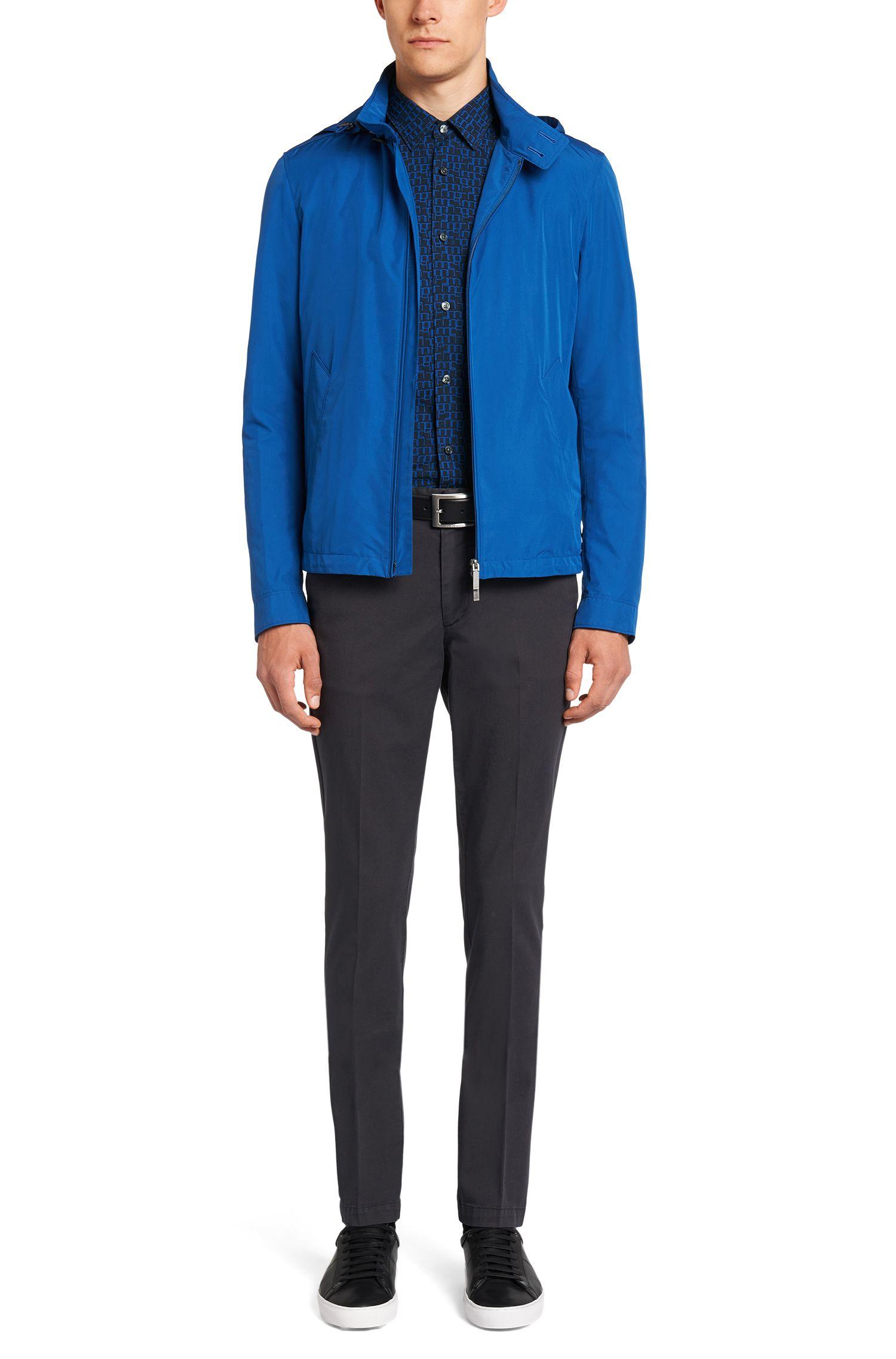 Slim-Fit Hemd aus Baumwolle mit grafischem Design: 'Reid_F'