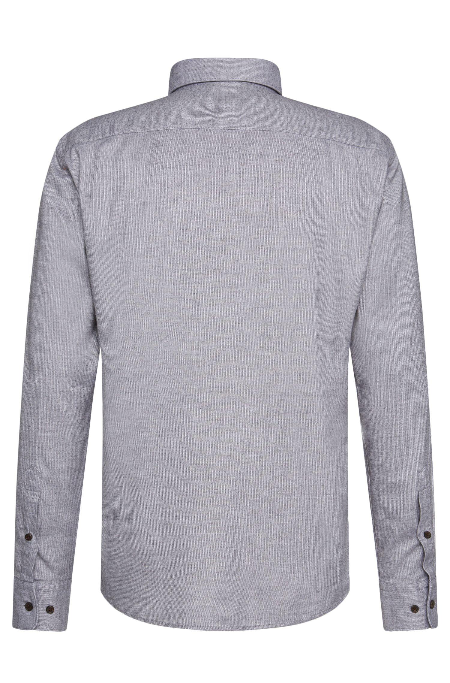 Meliertes Slim-Fit Hemd aus Baumwoll-Mix: 'Rubens_31P'