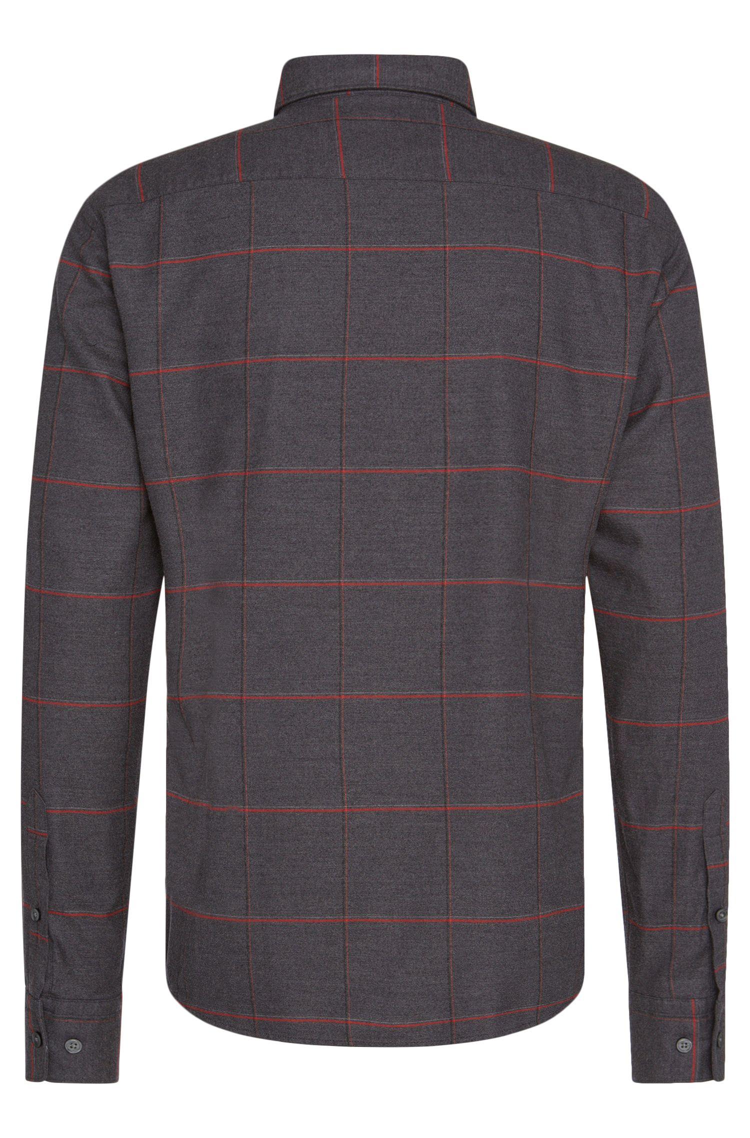 Slim-Fit Hemd aus Baumwoll-Mix mit Linien-Muster: 'Reid_F'