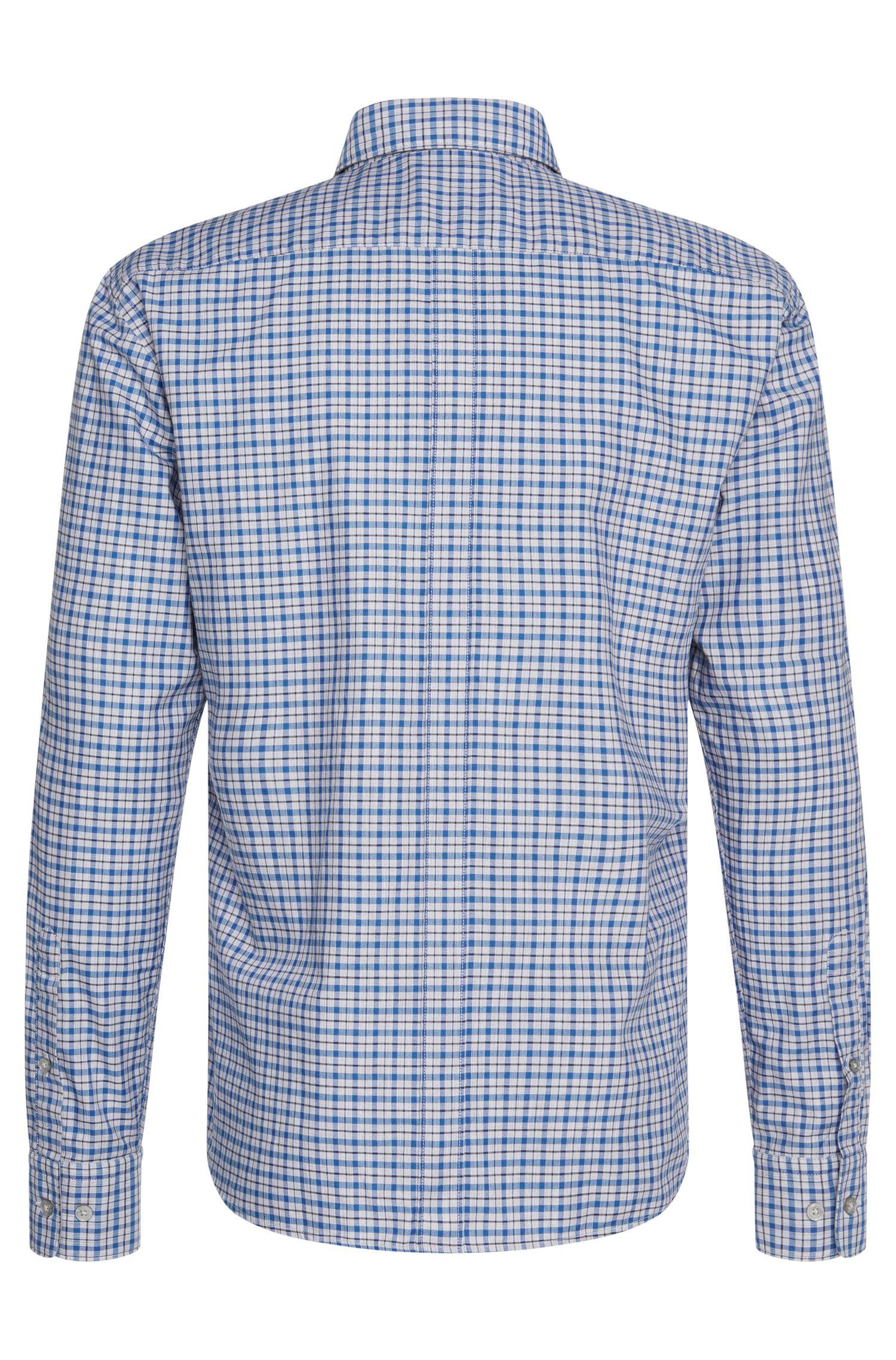 Geruit slim-fit overhemd van zuiver katoen: 'Rubens_34'