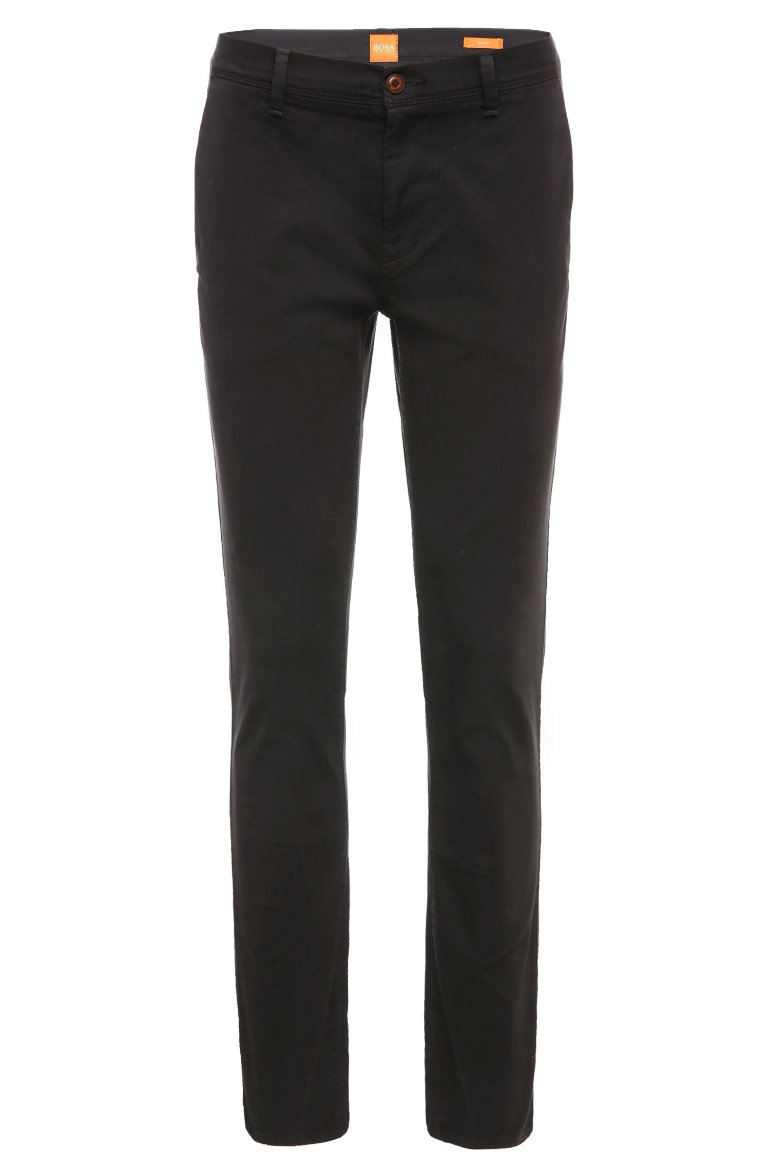 Chino Slim Fit en coton extensible : « Schino-Slender-D »