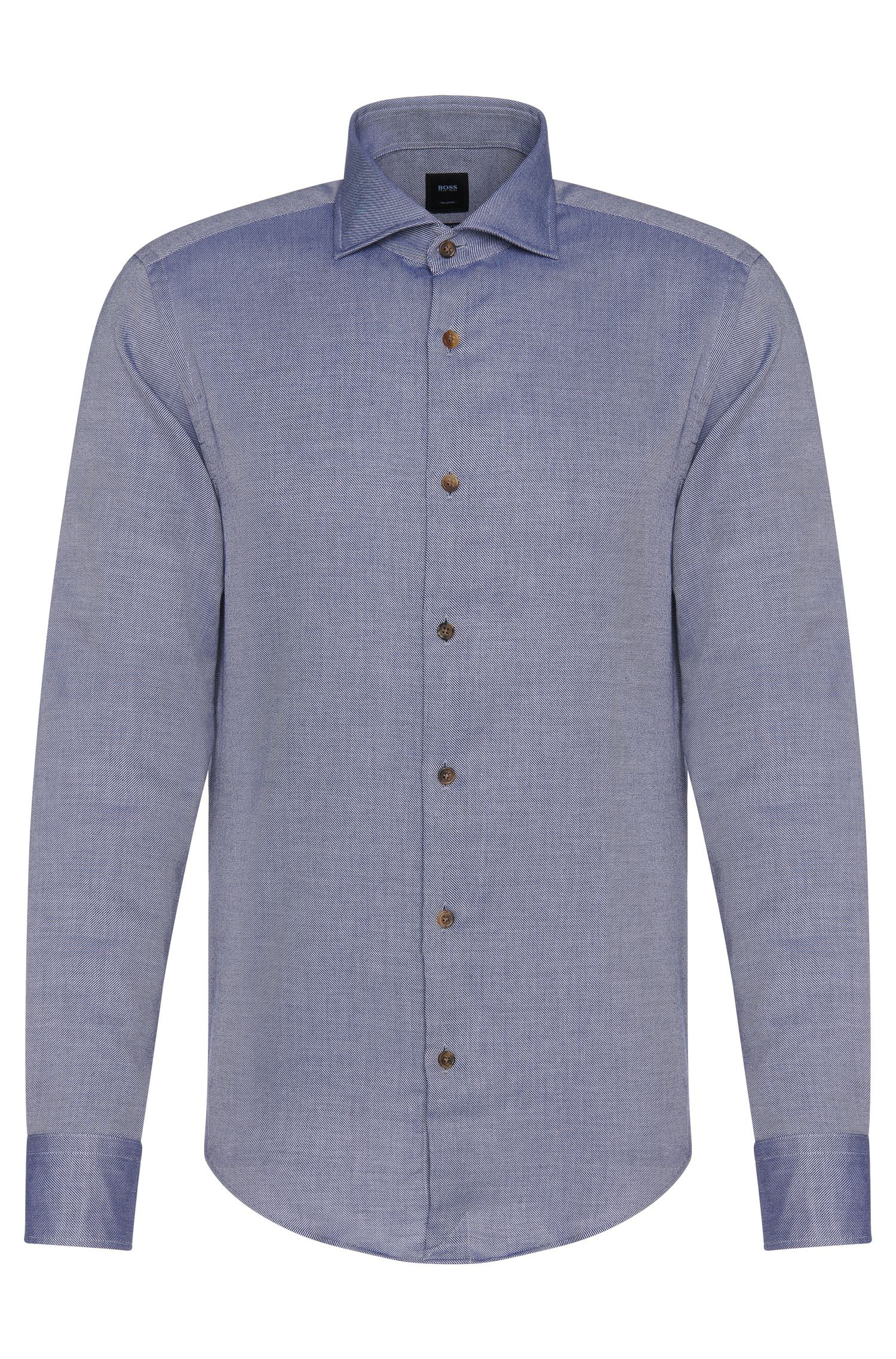 Camicia Tailored slim fit in misto cotone con cashmere: 'T-Randolph_F'