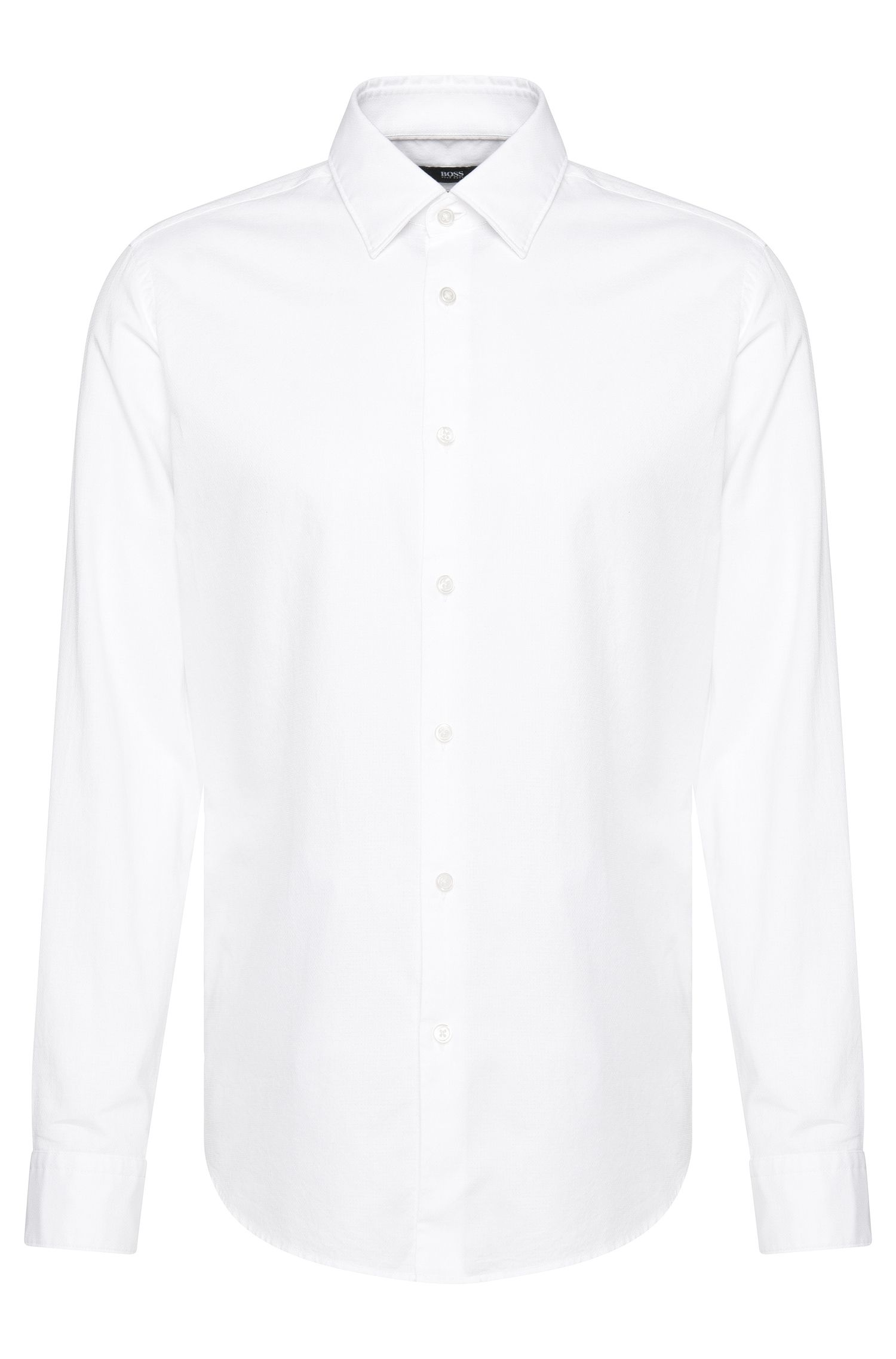 Fein gemustertes Regular-Fit Hemd aus Baumwolle: 'Lukas_39F'