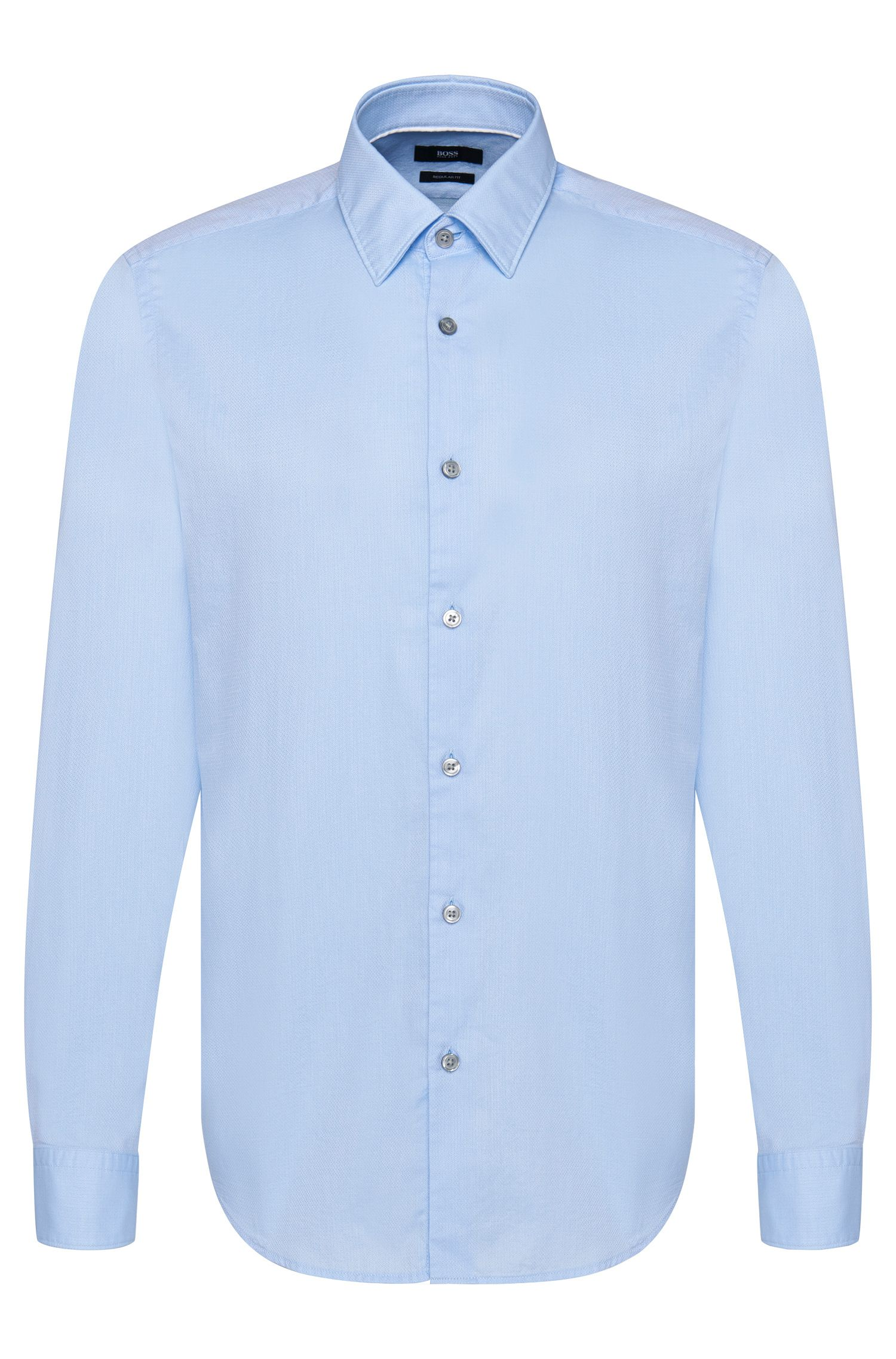 Finely patterned regular-fit shirt in cotton: 'Lukas_39F'