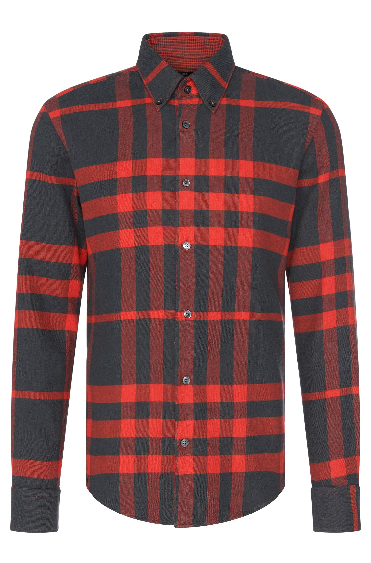 Checked slim-fit shirt in cotton: 'Rubens_36F'