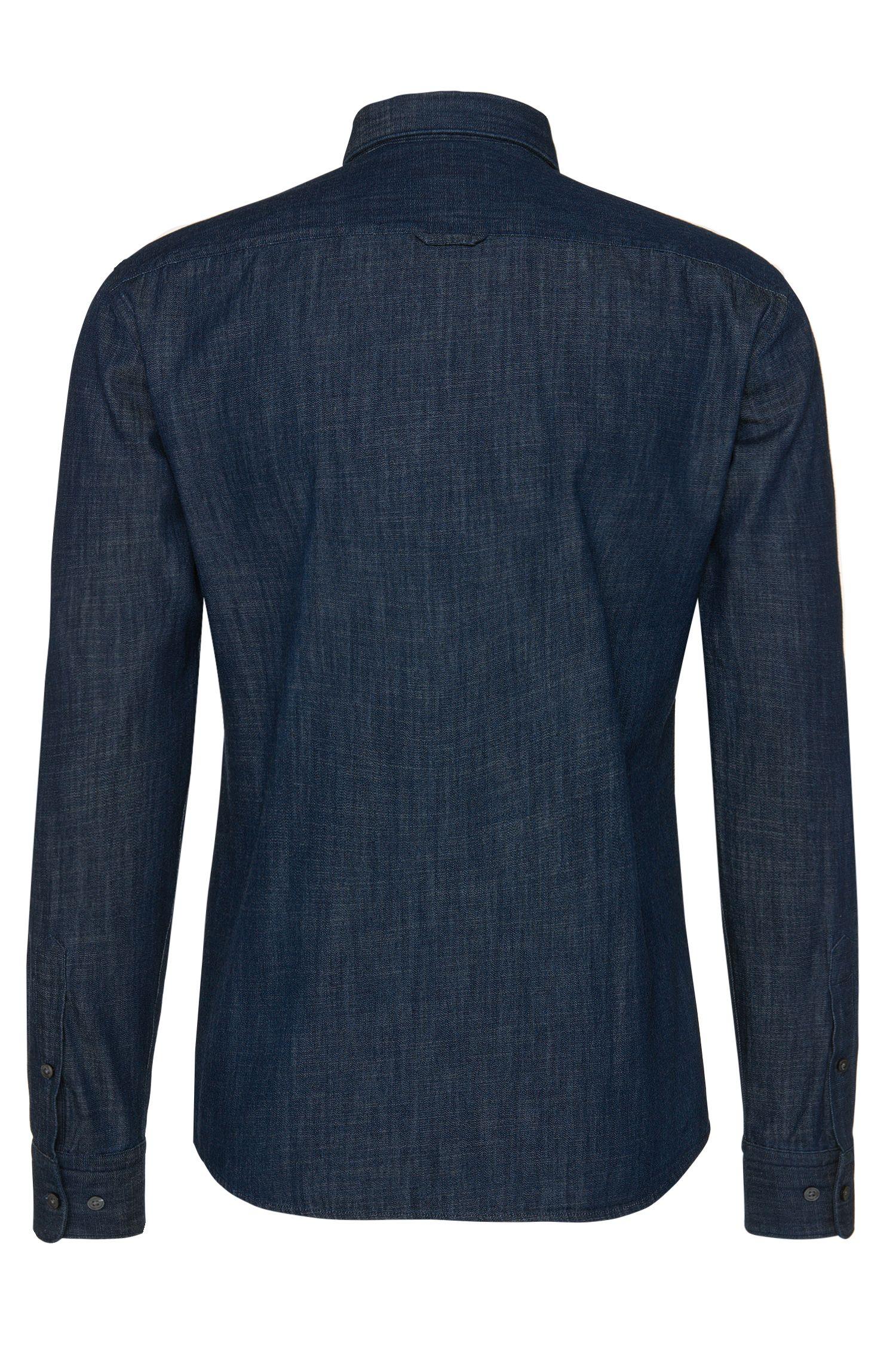 Chemise en jean Slim Fit en coton: «Reid_34F»