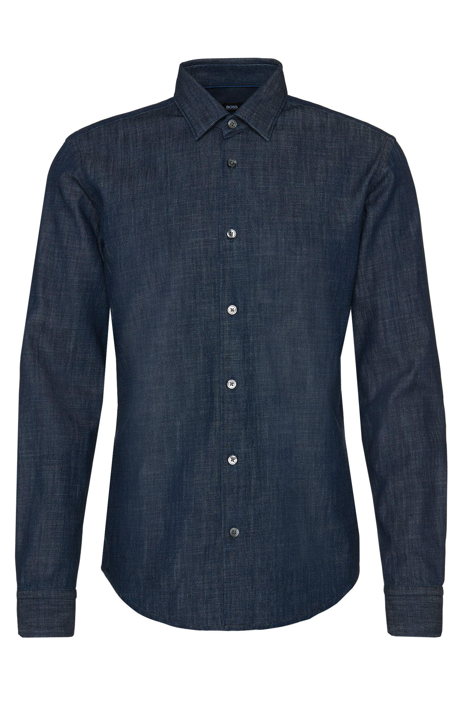 Slim-fit jeans shirt in cotton: 'Reid_34F'