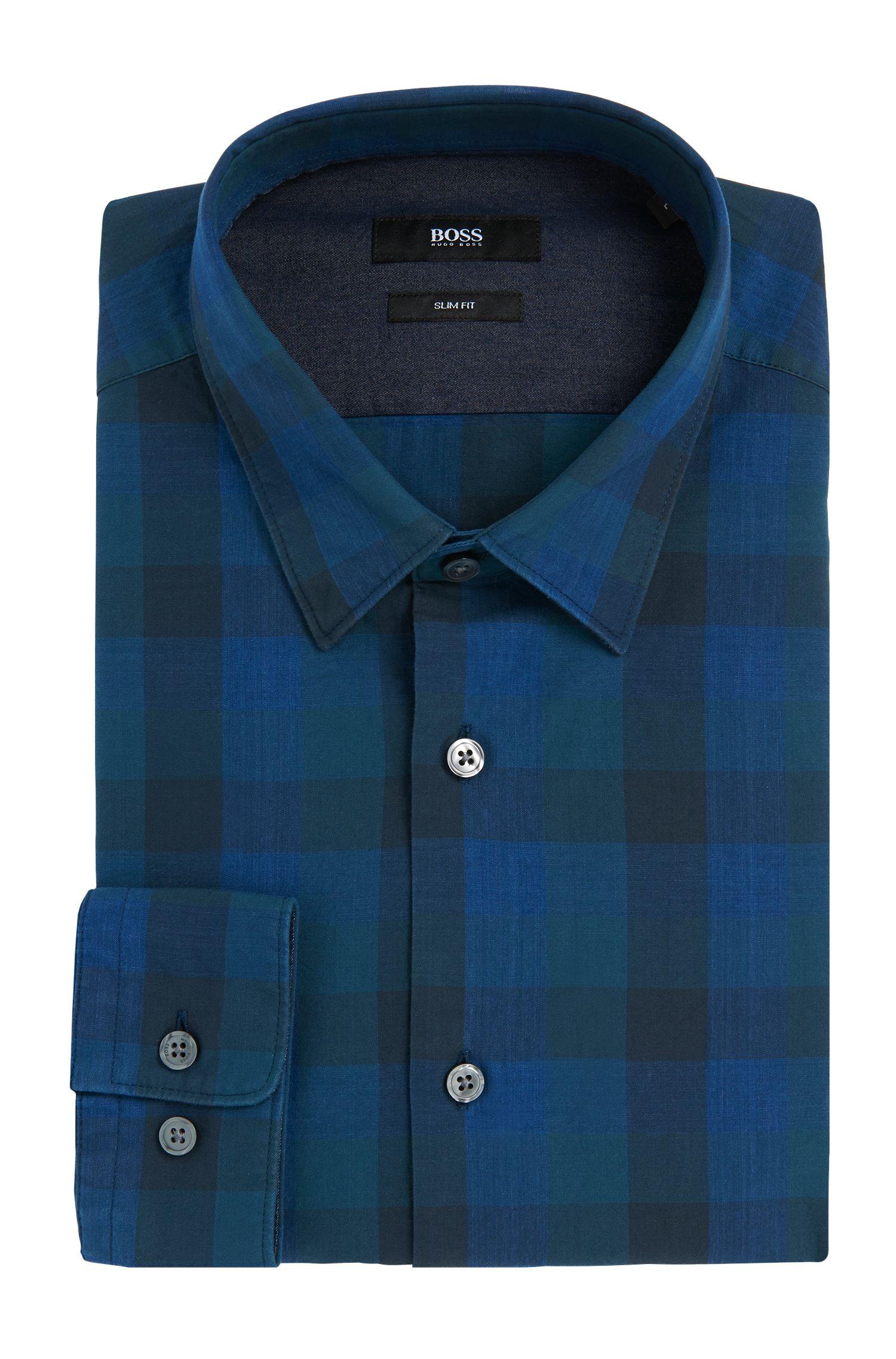 Kariertes Slim-Fit Hemd aus Baumwolle: 'Ronni_32F'