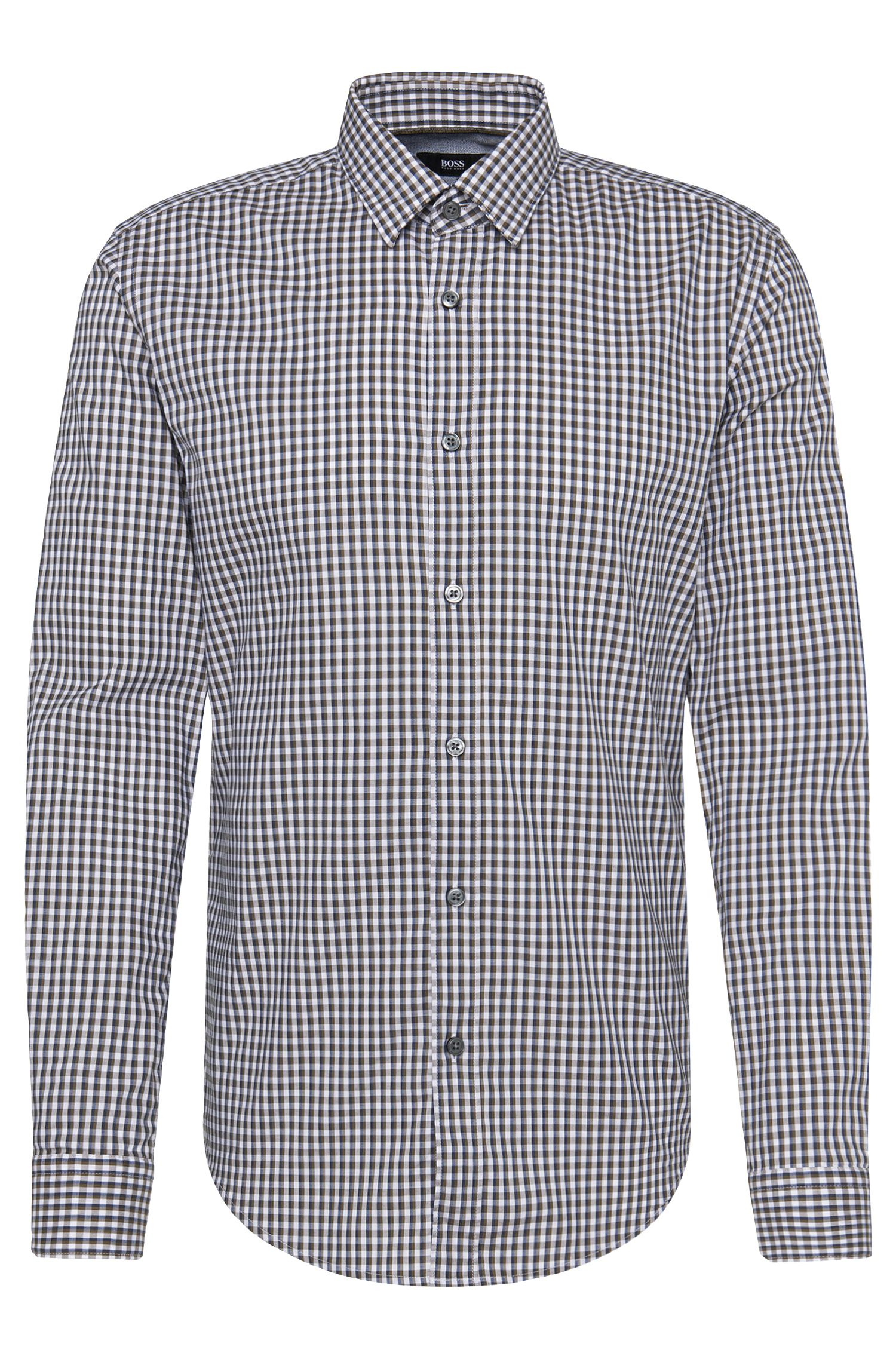 Chemise à carreaux Slim Fit en pur coton: «Ronni_4»