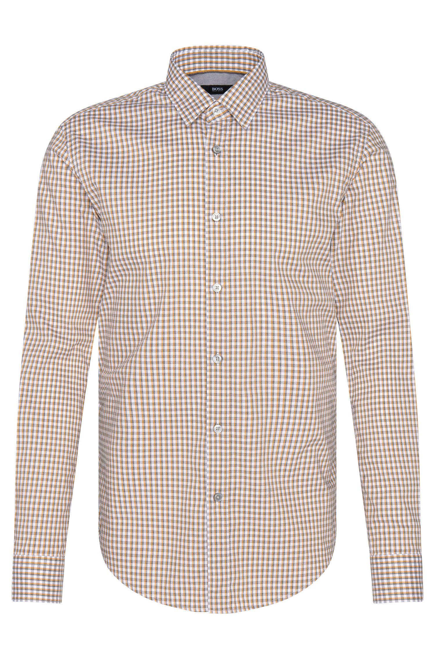 Camisa de cuadros slim fit en algodón puro: 'Ronni_4'
