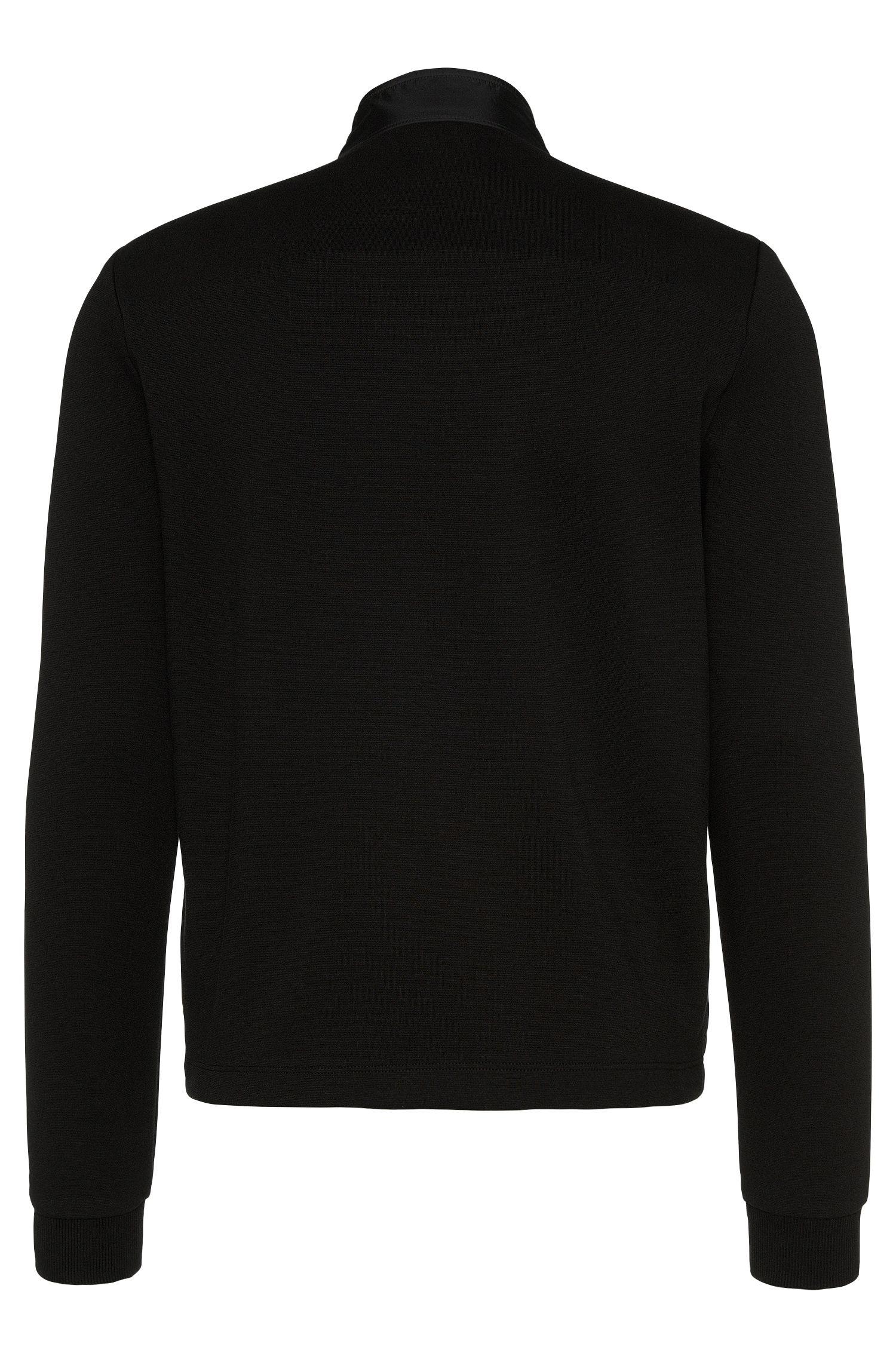 Regular-Fit Sweatshirt-Jacke mit gesteppter Front: 'Shepherd 05'