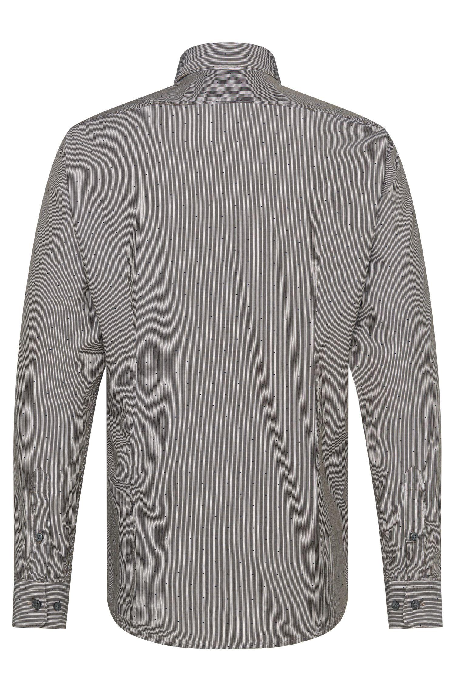 Gestreiftes Regular-Fit Hemd aus reiner Baumwolle: 'Lukas_40'